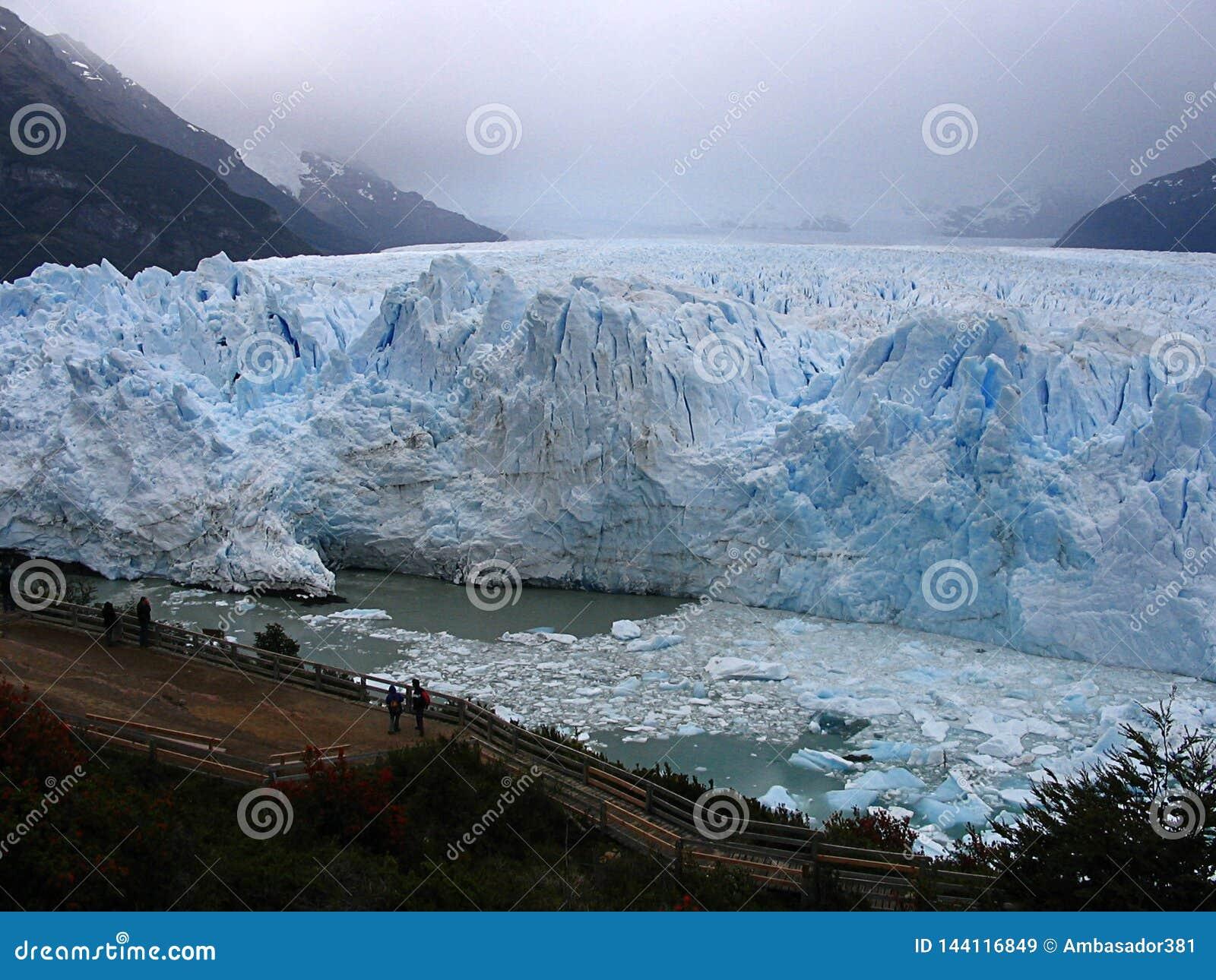 Glacier Perito moreno in Patagonia, sur of Argentina
