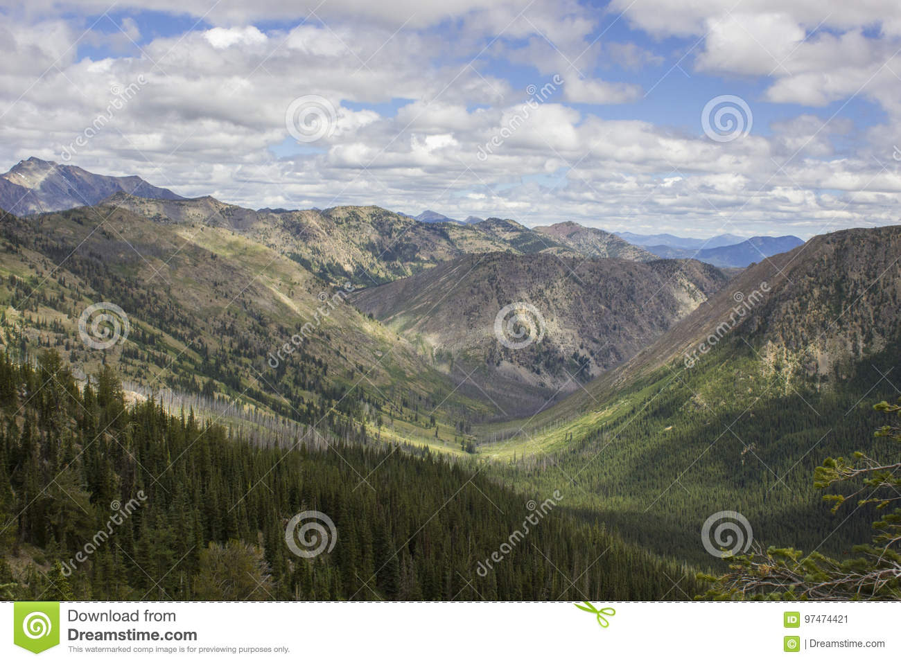Glacier-Shaped Valley stock image  Image of alpine, ancient