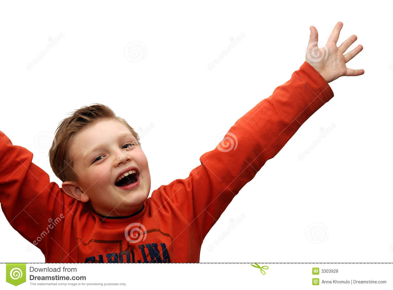 Glad Child Royalty Free Stock Photos - Image: 3303928