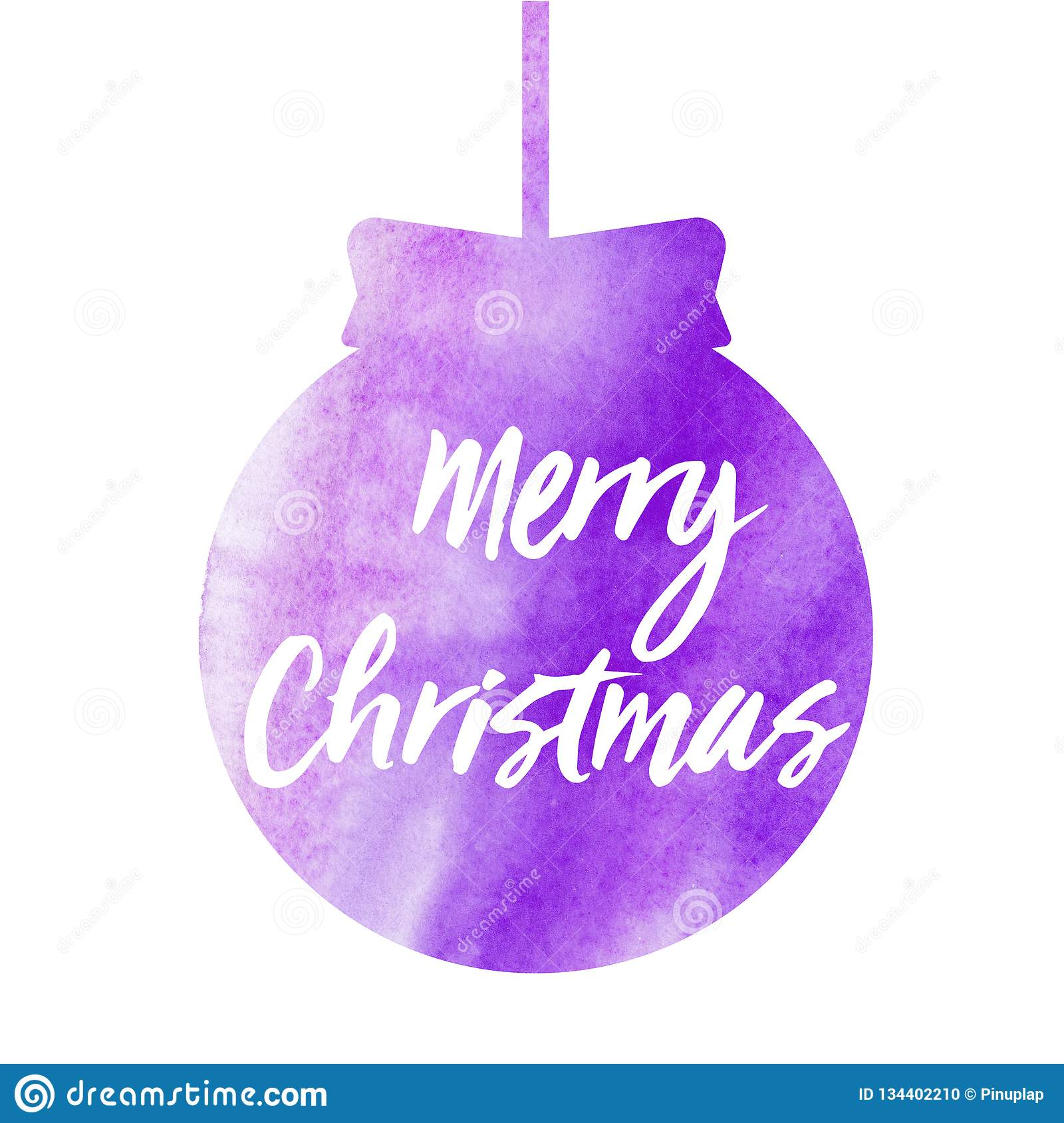 Glad jul Julkort med vattenfärgjulbollen för flygillustration för näbb dekorativ bild dess paper stycksvalavattenfärg