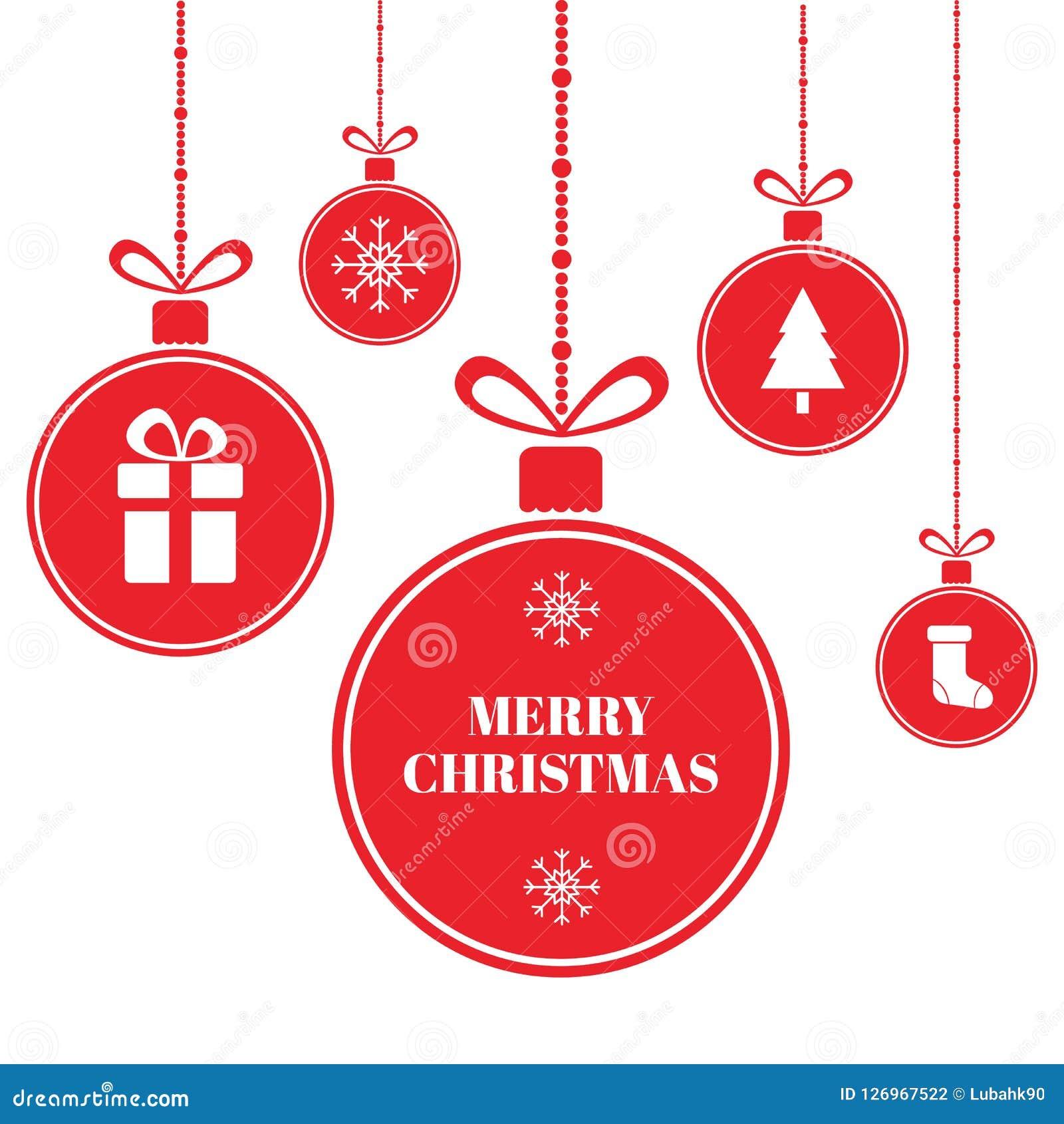 Glad jul klumpa ihop sig på blå bakgrund med snö och snöflingor nytt år för kortferie Ljusa röda Xmas-bollar med