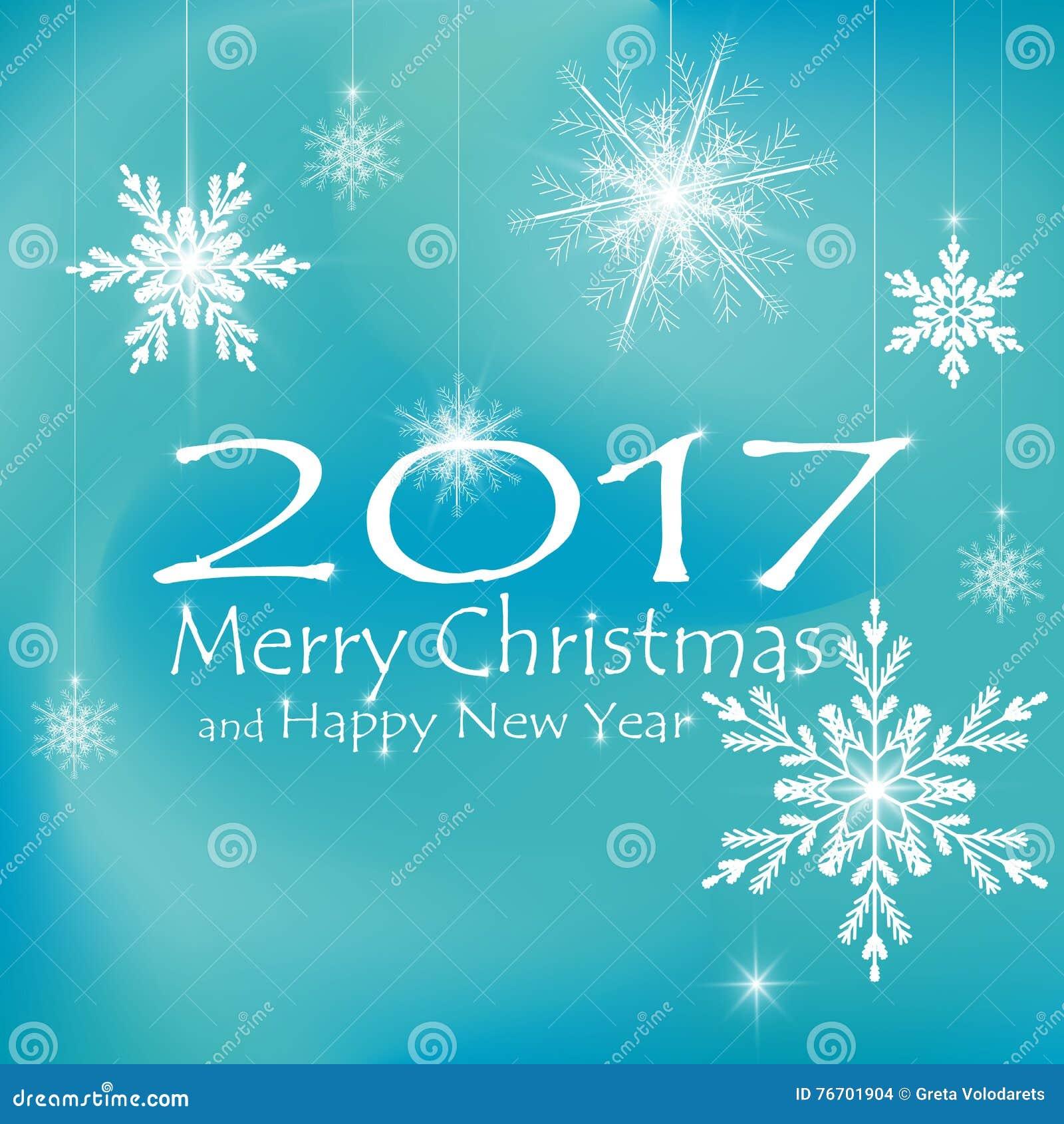 Glad jul och kortgarneringar för lyckligt nytt år blåa bakgrunder