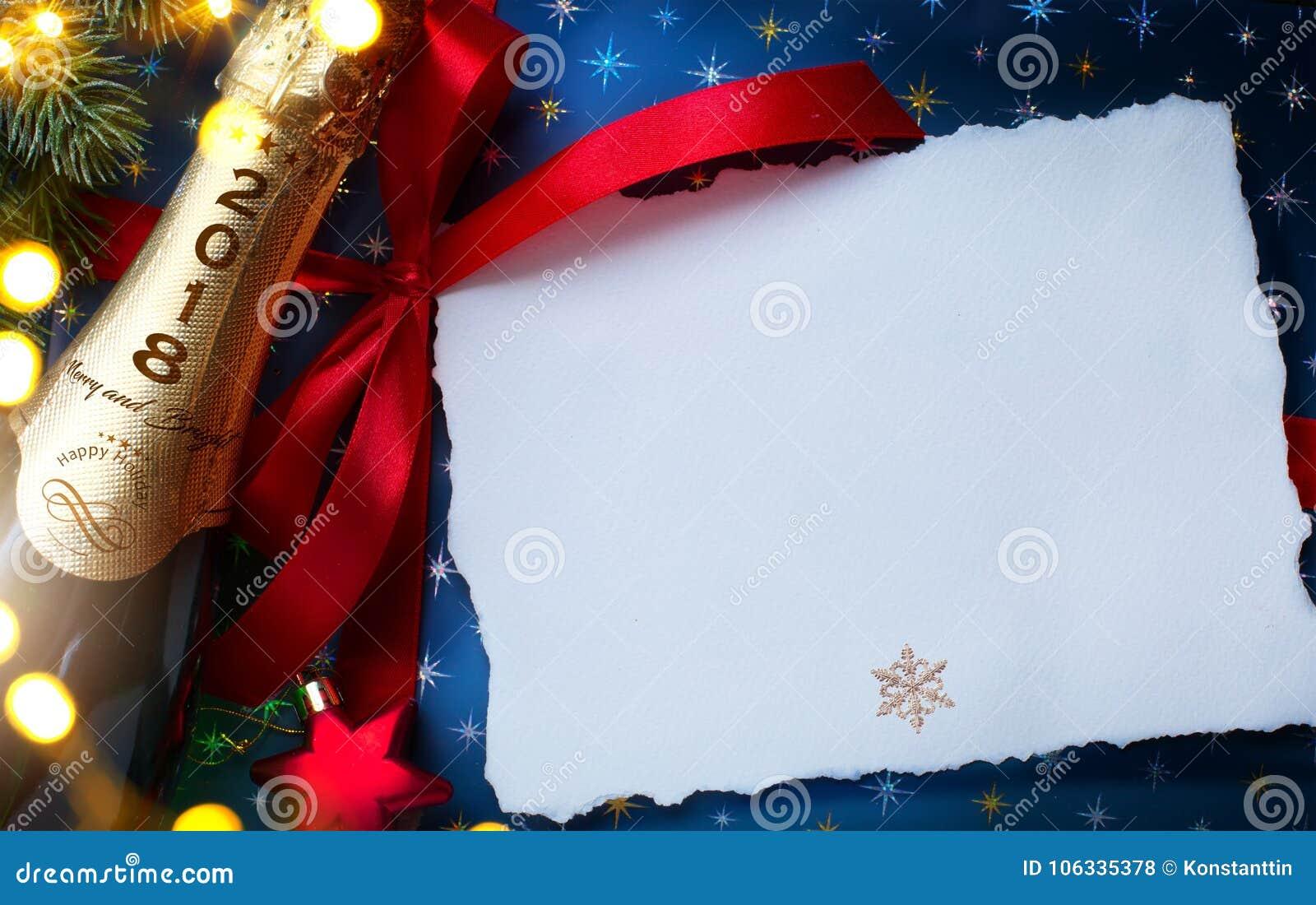 2018; Glad jul och lyckligt nytt år; festlig partibackgrou
