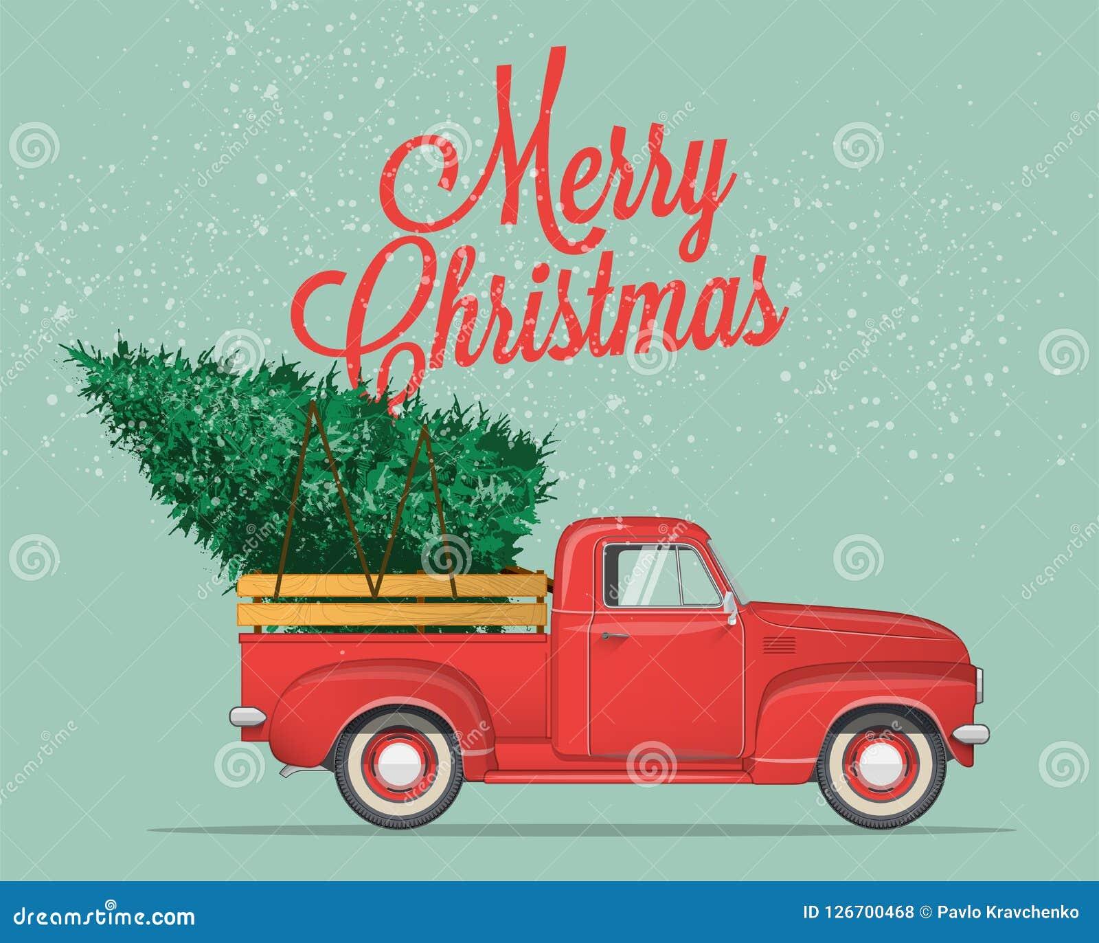 Glad jul och vykort- eller affisch- eller reklambladmall för lyckligt nytt år Tappning utformad vektorillustration