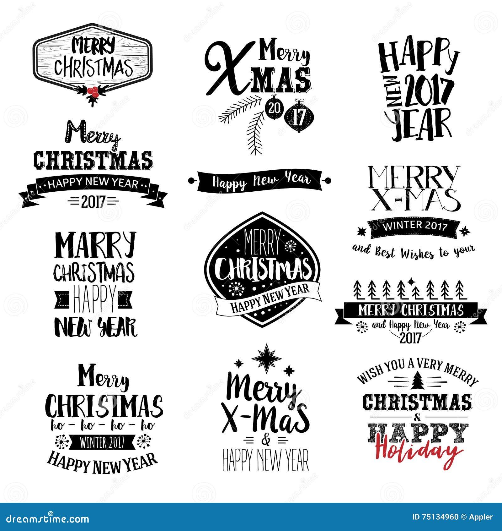 Glad jul som märker designuppsättningen