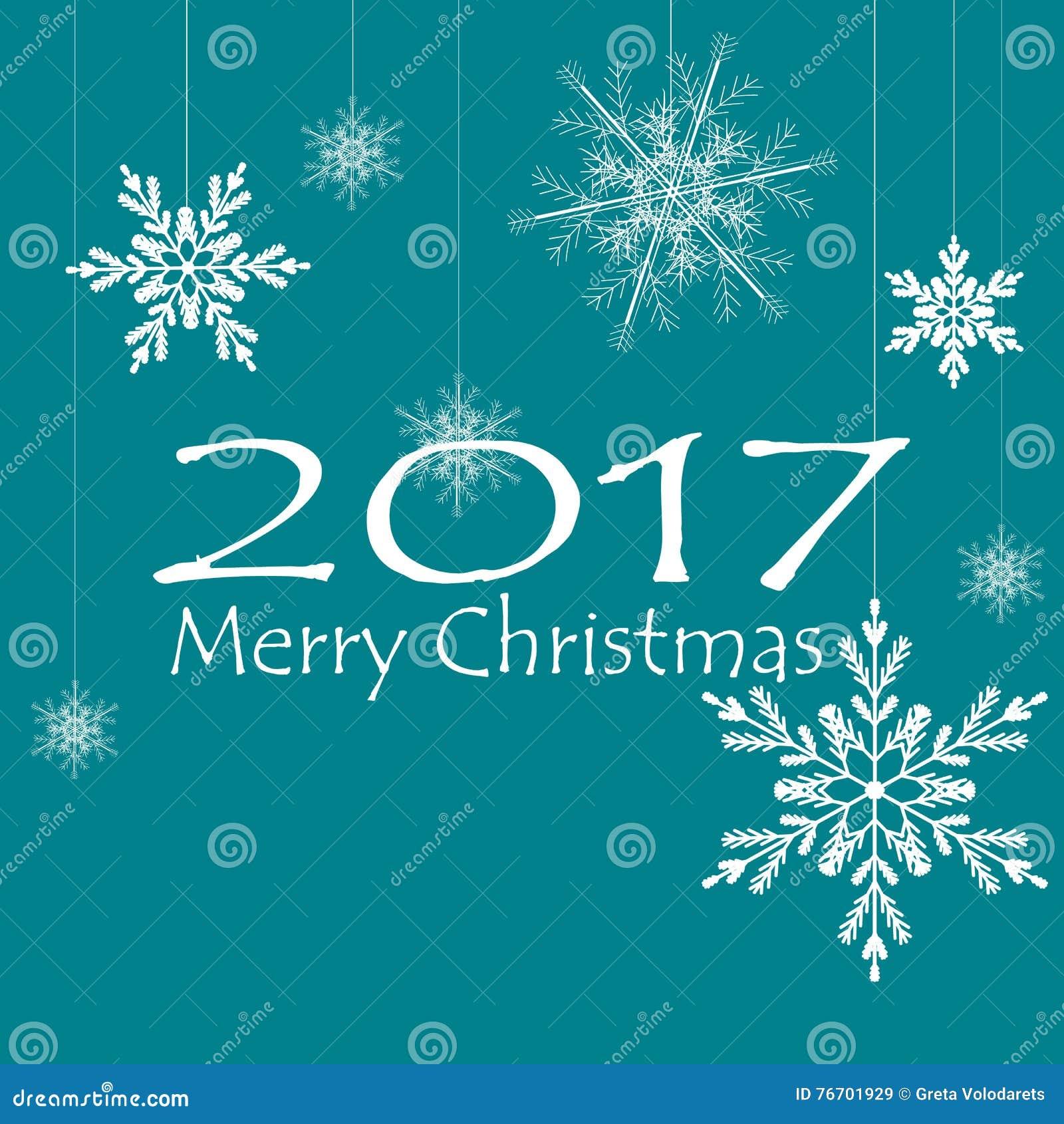Glade julkortXmas-garneringar snowflakes vektor