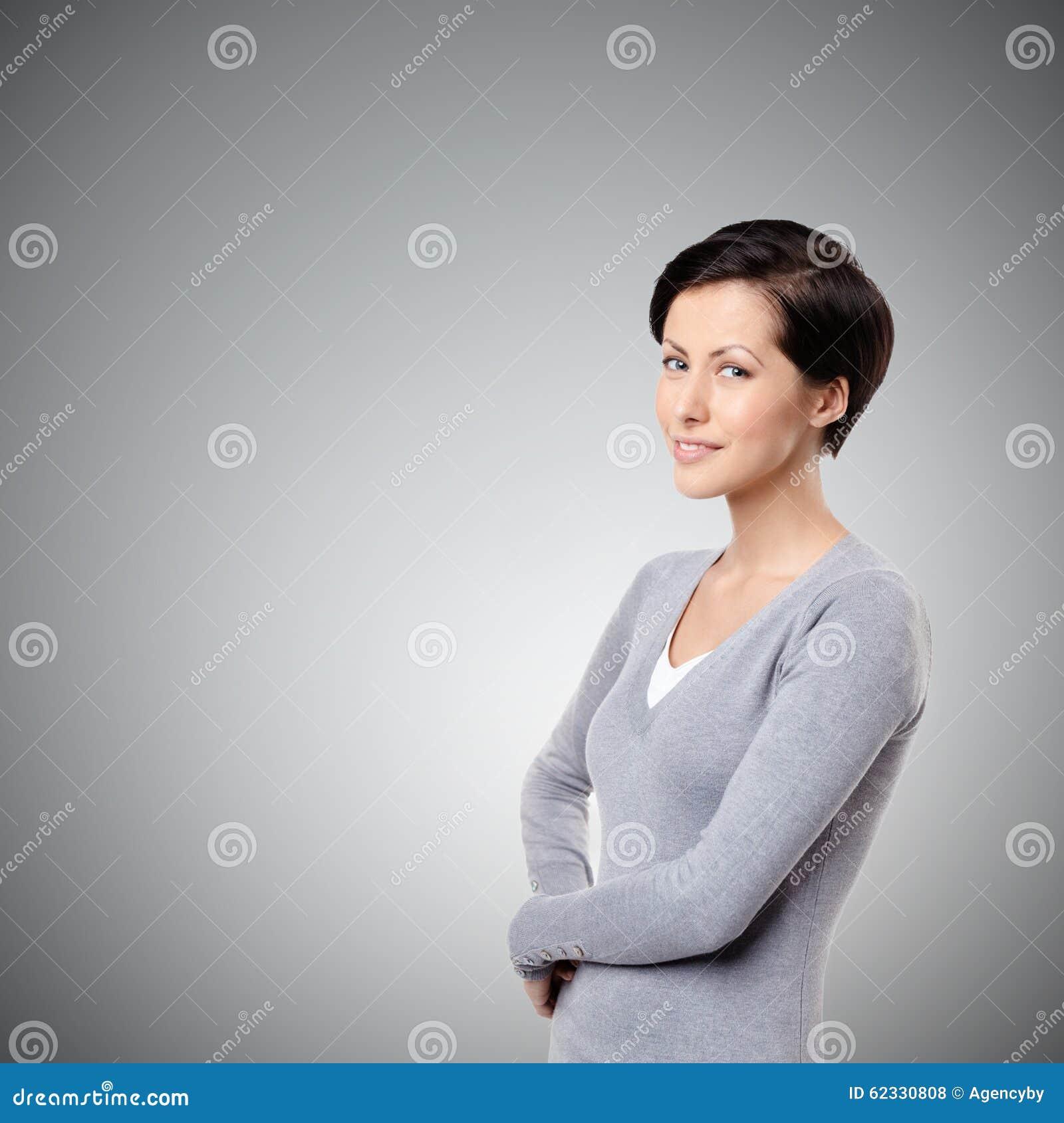 Gladlynt kvinna för Smiley