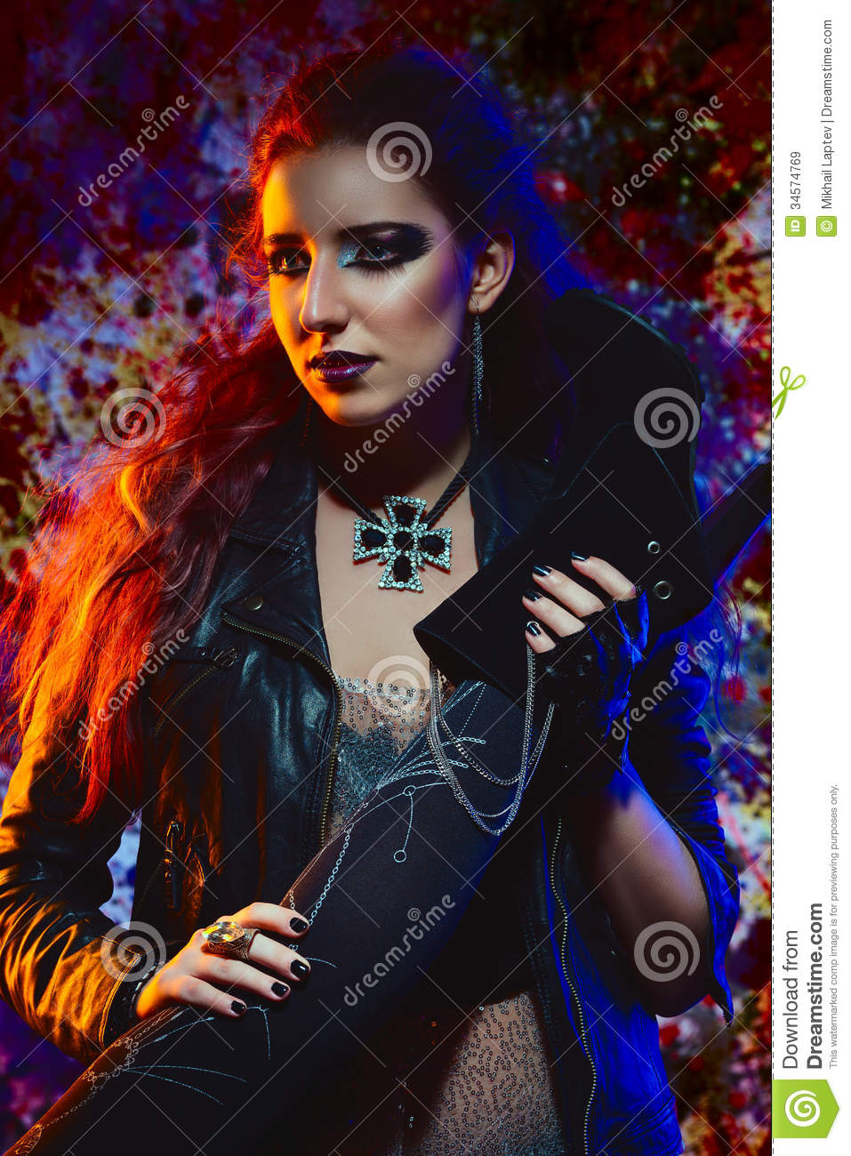 Glam Rock Girl Royalty Free Stock Images Image 34574769