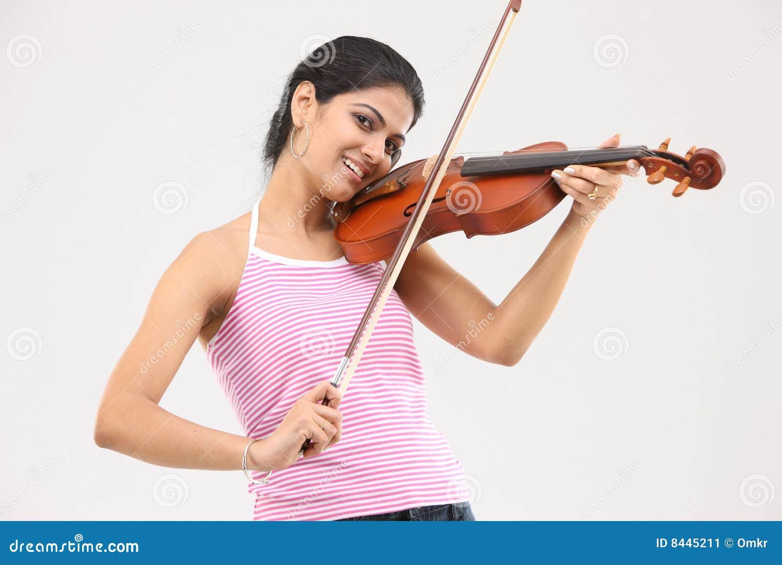 Glamorös leka fiol för flicka