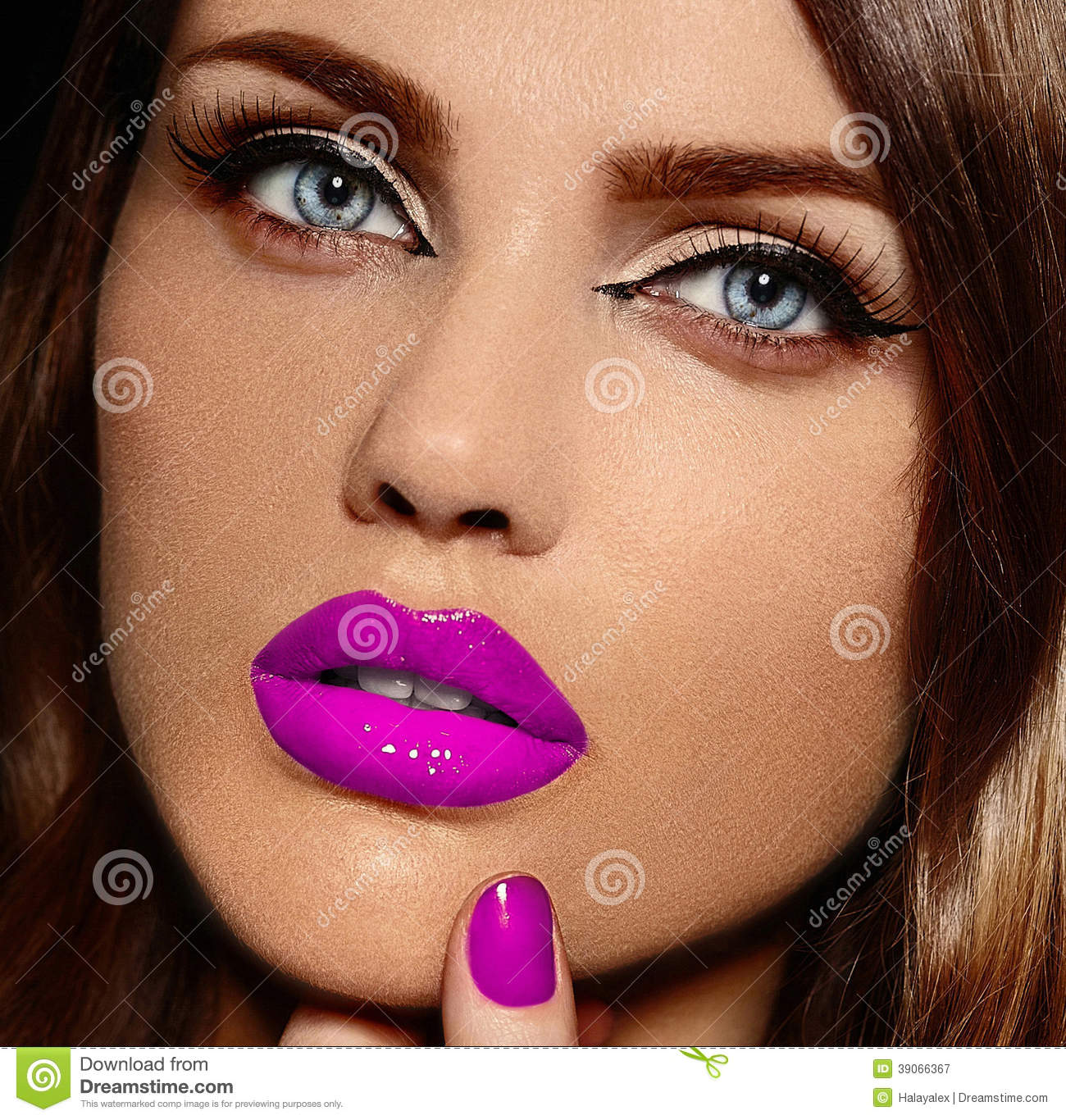 712ae7b5f98 High fashion look.glamor closeup portrait of beautiful stylish Caucasian  young woman model with bright makeup
