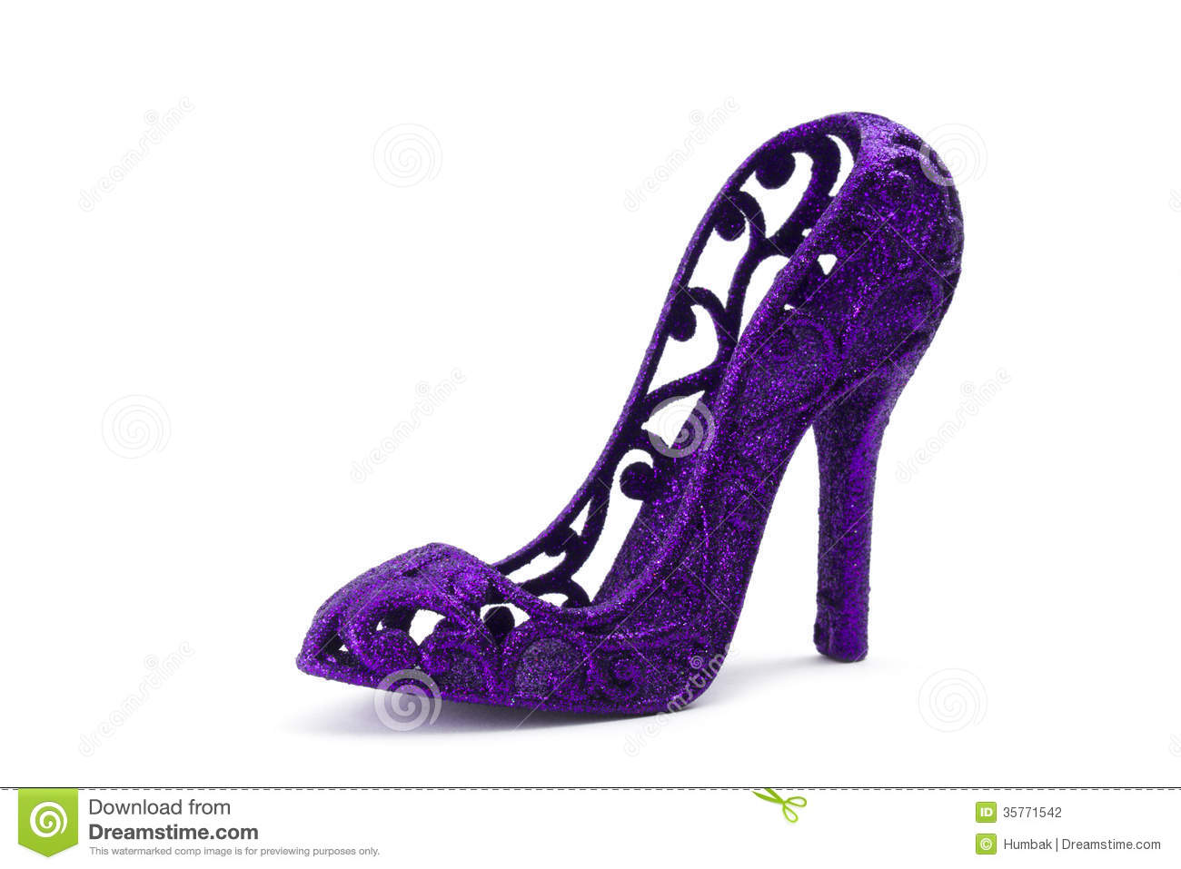 Glitter Purple Heels - Is Heel