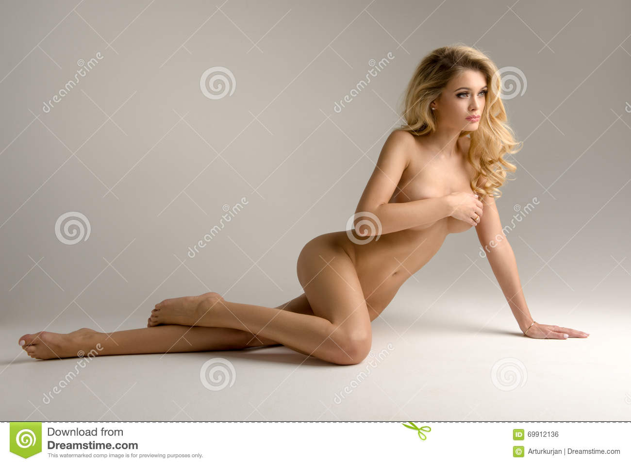 Woman naked Beautiful curvy