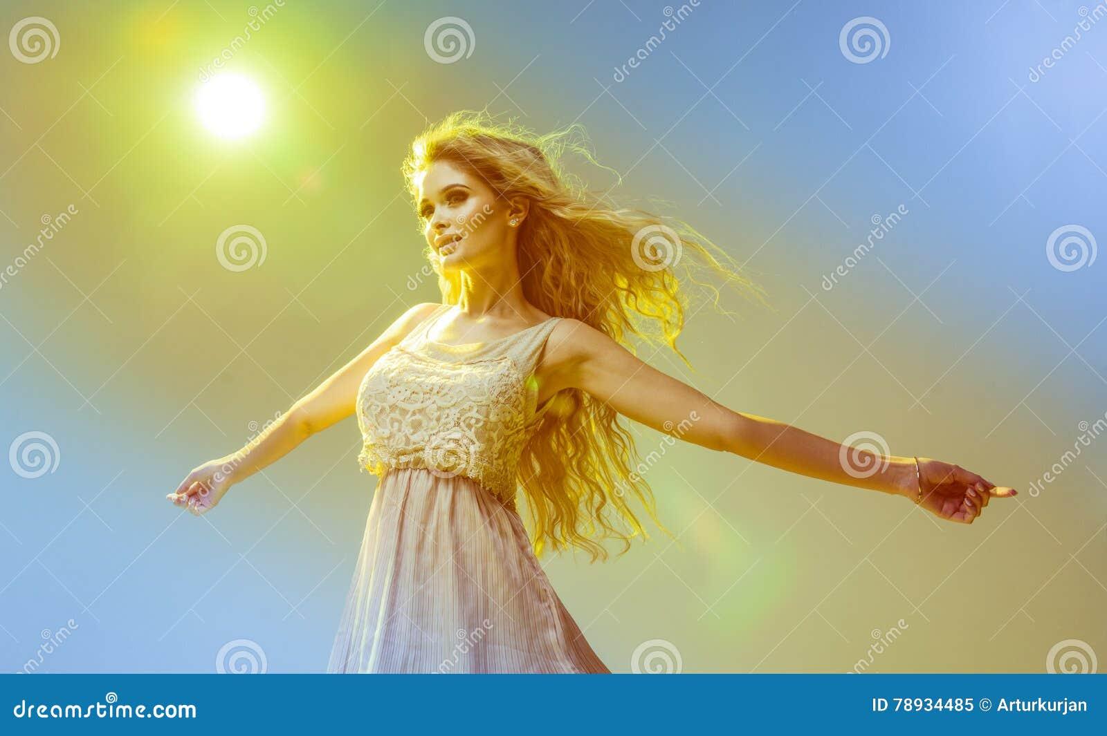 Glamorous Curvy Blonde Woman Stock Image - Image of beautiful ... ac6ae959c3b