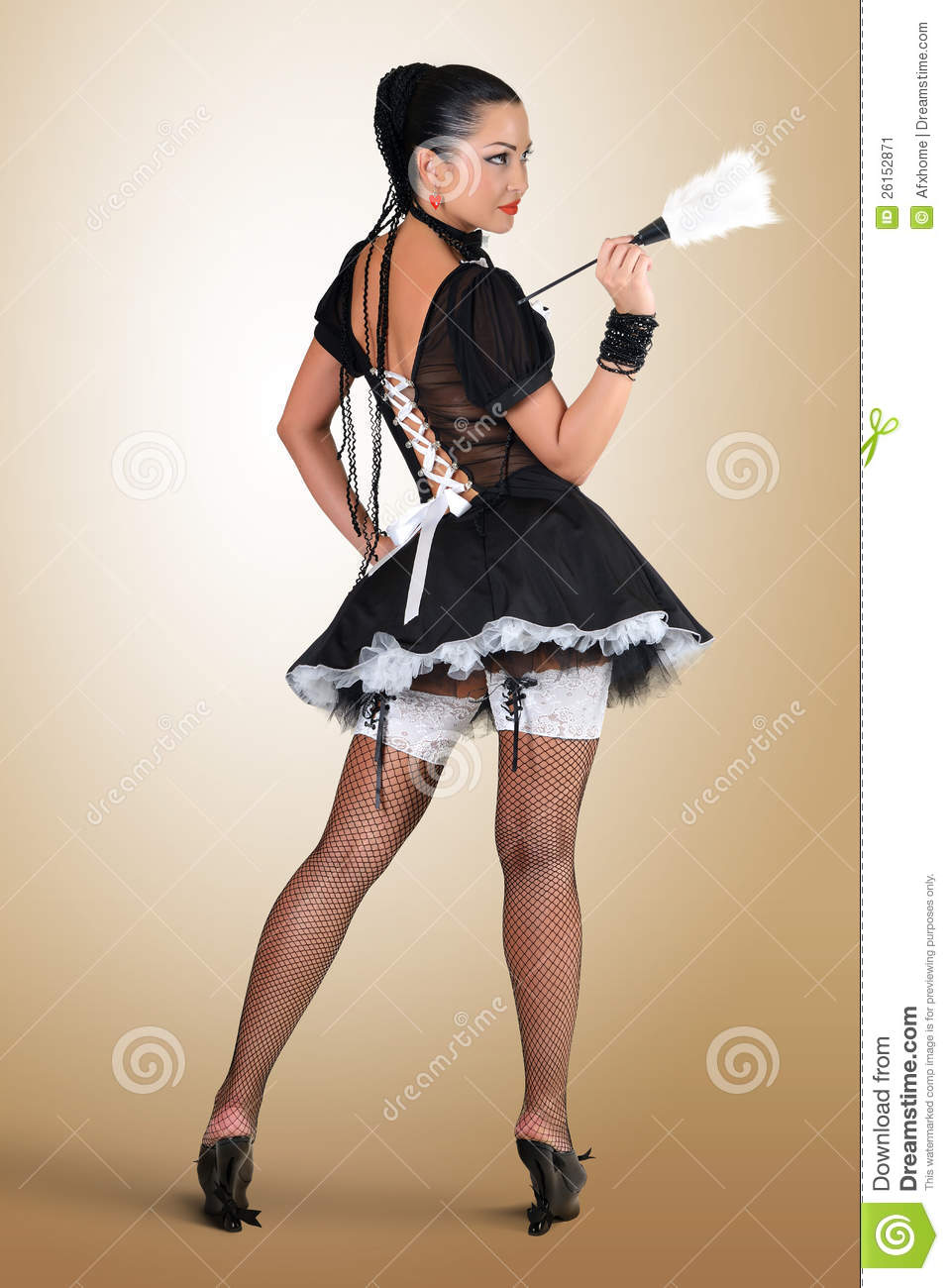 sexy french maid cleaning hot girls wallpaper