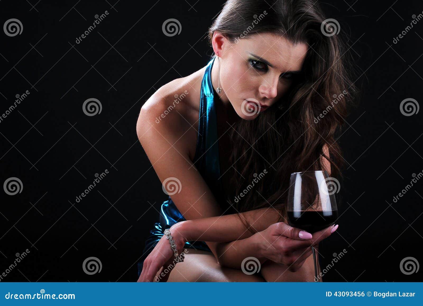 Glamorous wine tasting