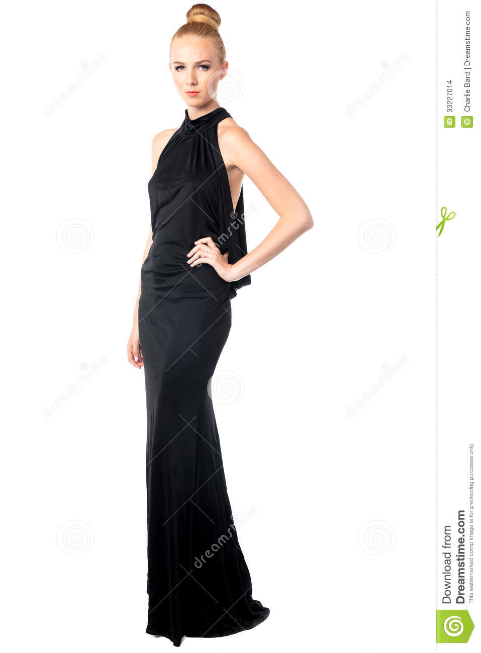 Glamorous Woman In An Evening Gown Stock Photo - Image of ...