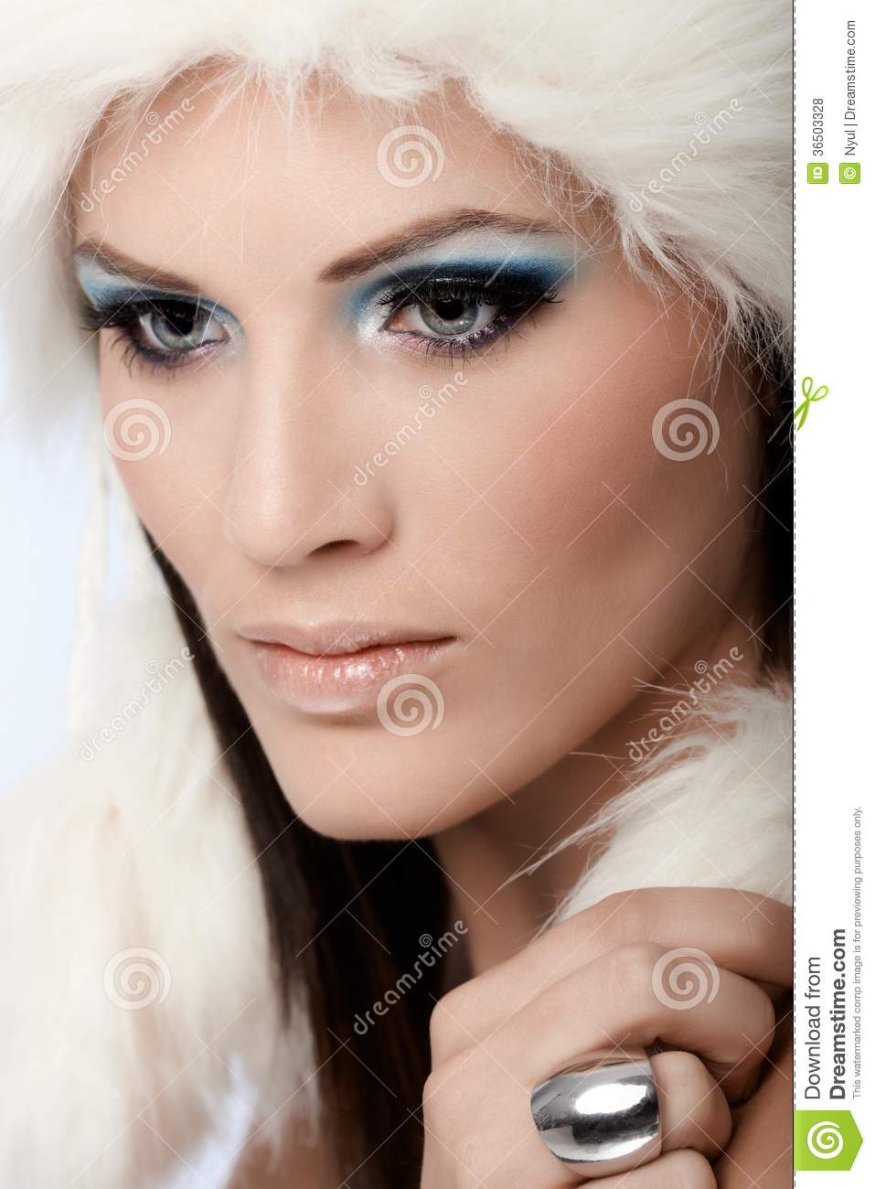 Glamorous Woman With Professional Makeup Stock Photo