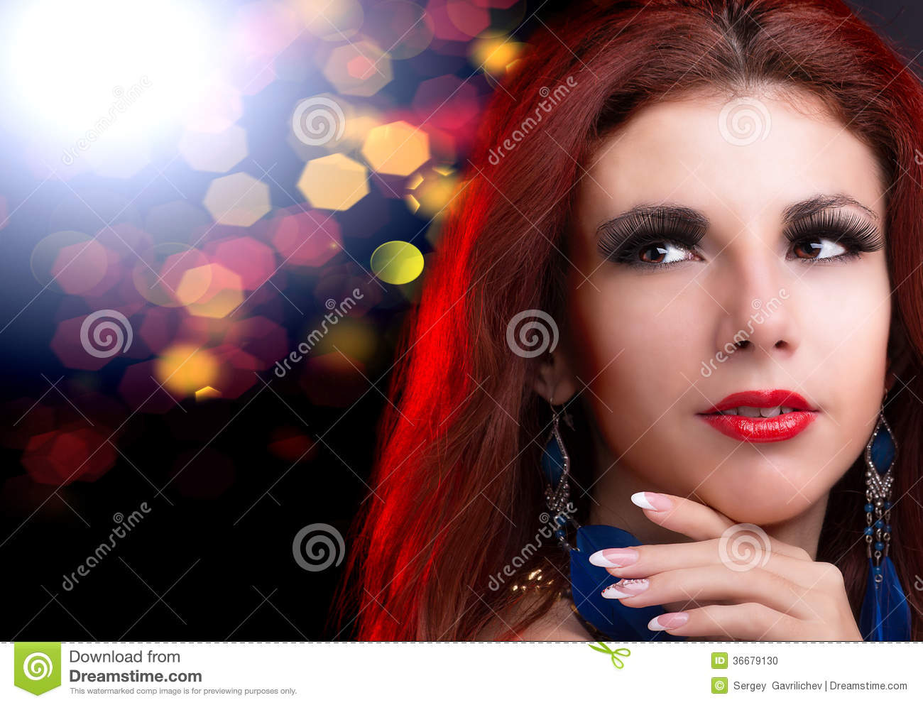Glamour Beautiful Woman Stock Photo - Image 36679130