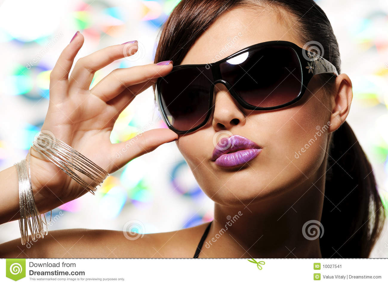 Download Glamour Girl With Sunglasses Stock Image - Image of female, emotion: 10027541