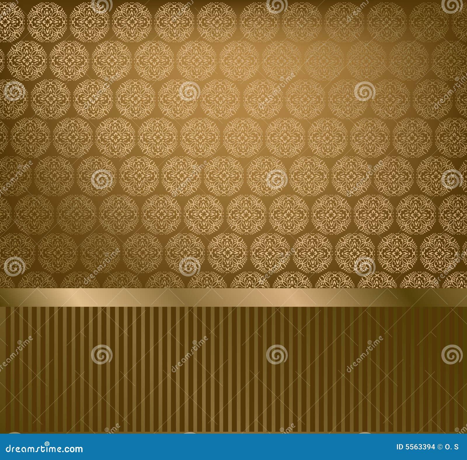 Glamour Golden Wallpaper Stock Vector Illustration Of Nature 5563394