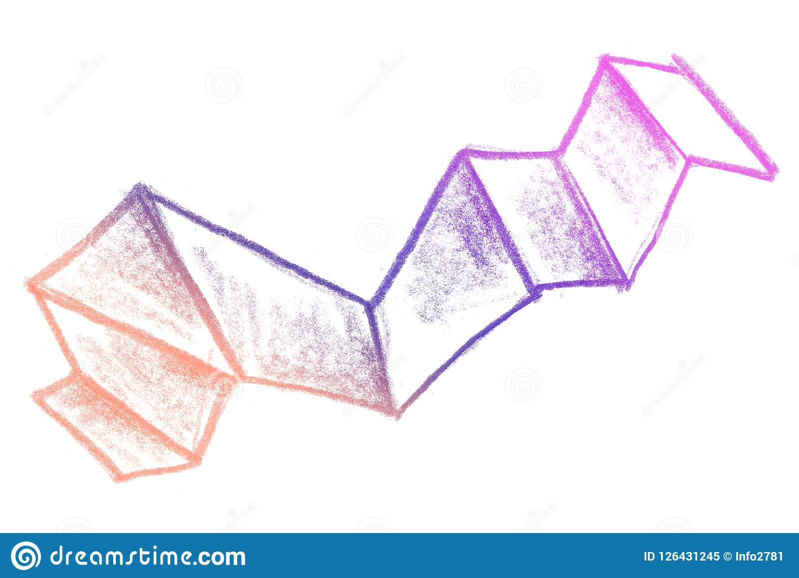 Glamour Gradient Sketch Background With Natural Pencil