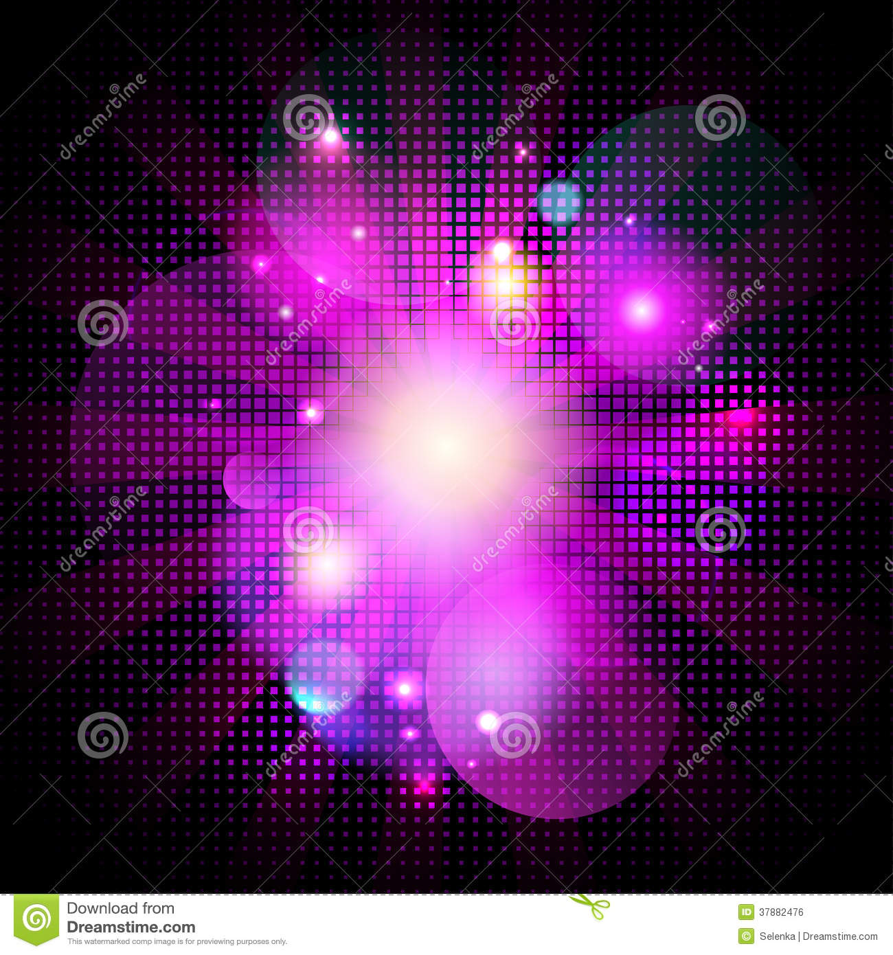 Glamour pink pop art bokeh background with dots stock vector illustration of flares - Glamour background ...