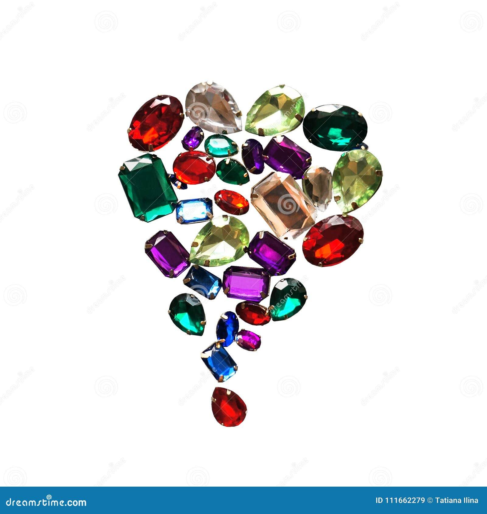 Glamour schitteren de glanzende stenen het fonkelen juwelen de achtergrond van het gemmenkader
