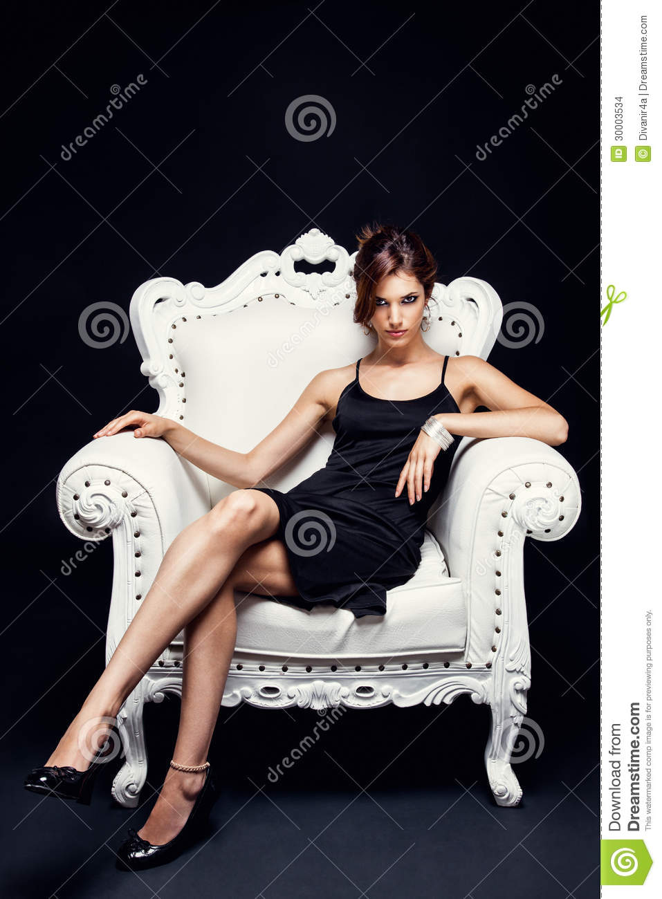 Beautiful young woman in a chair stock photo image 30003534 for Sitting in armchair