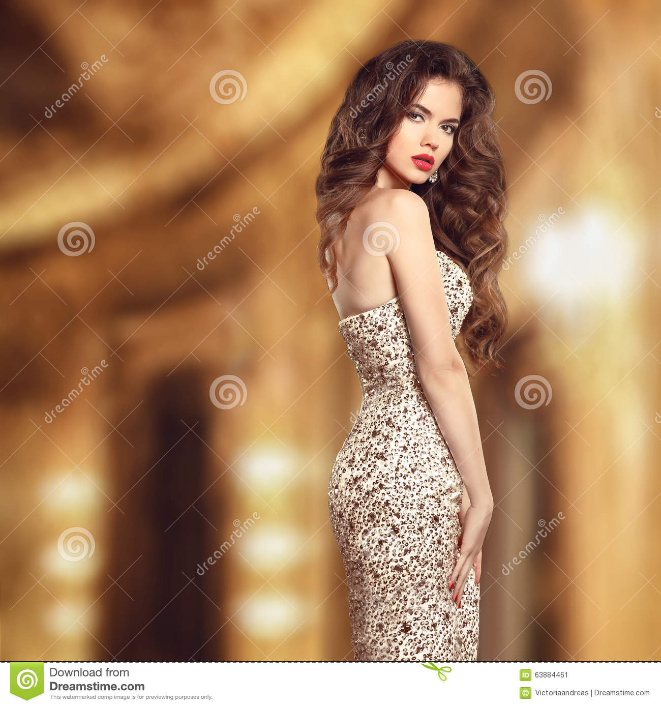 Classy And Glamorous Photo: Glamour Style Beauty Portrait. Beautiful Young Woman In