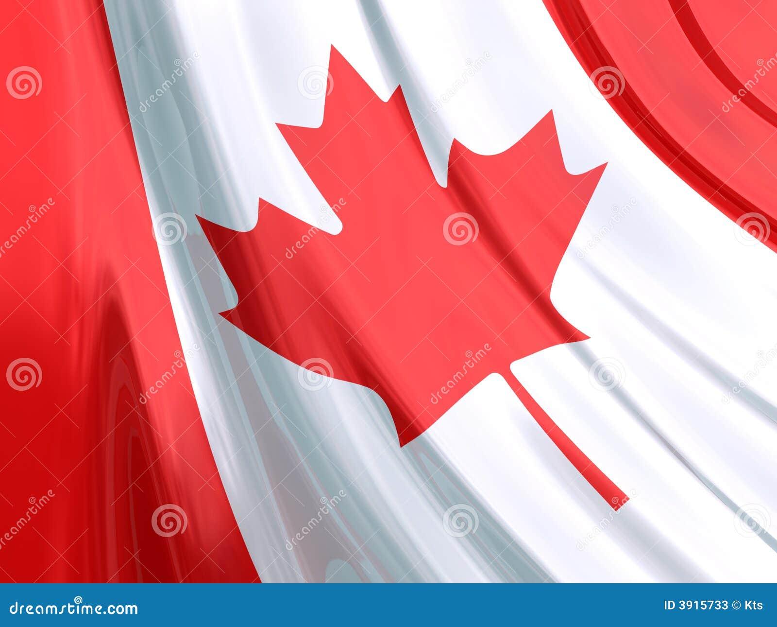 Glansowany canada bandery