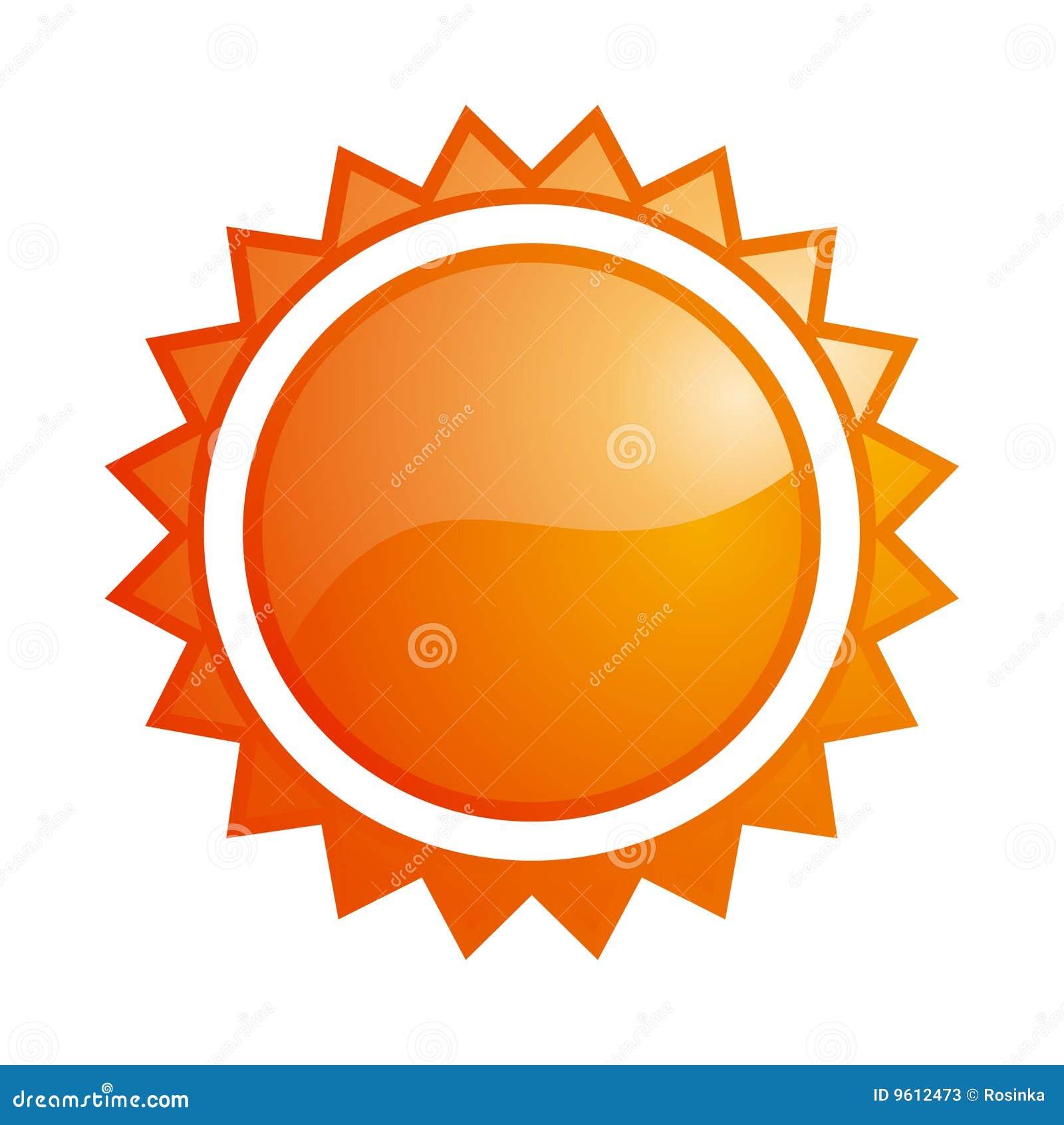 Glanzend zonpictogram