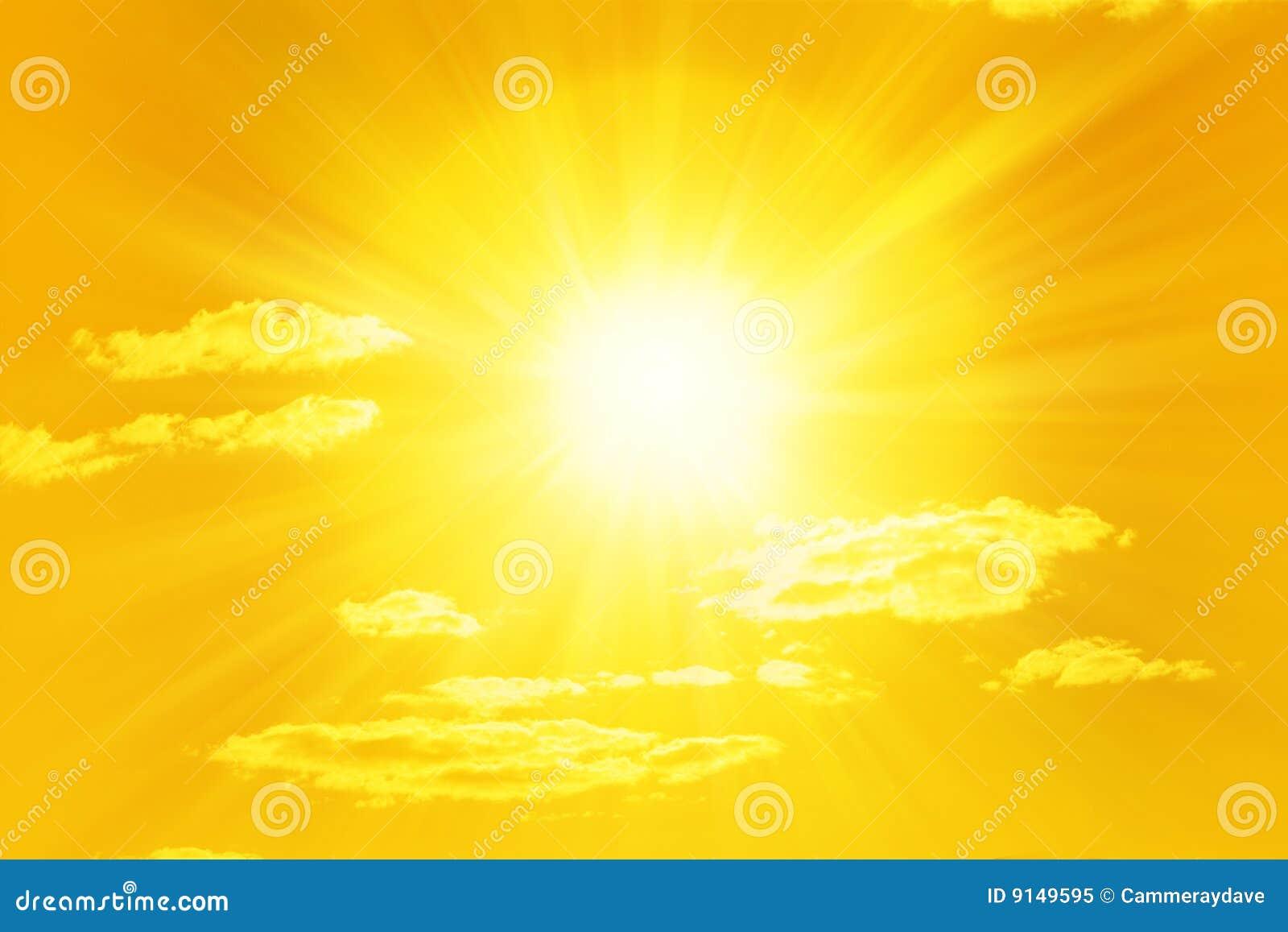 Glanzende Gele Zon