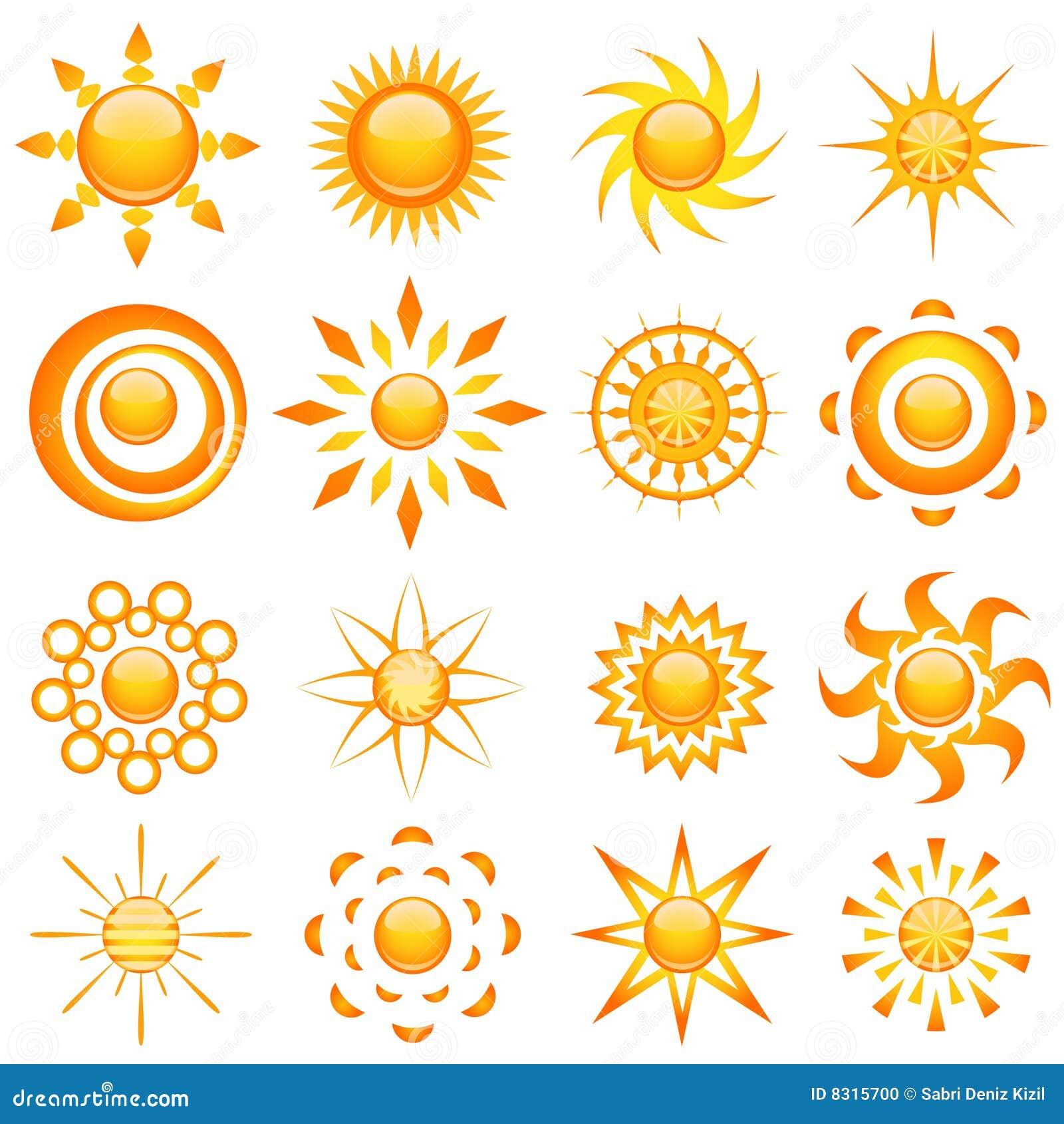 Glanzende zonvector
