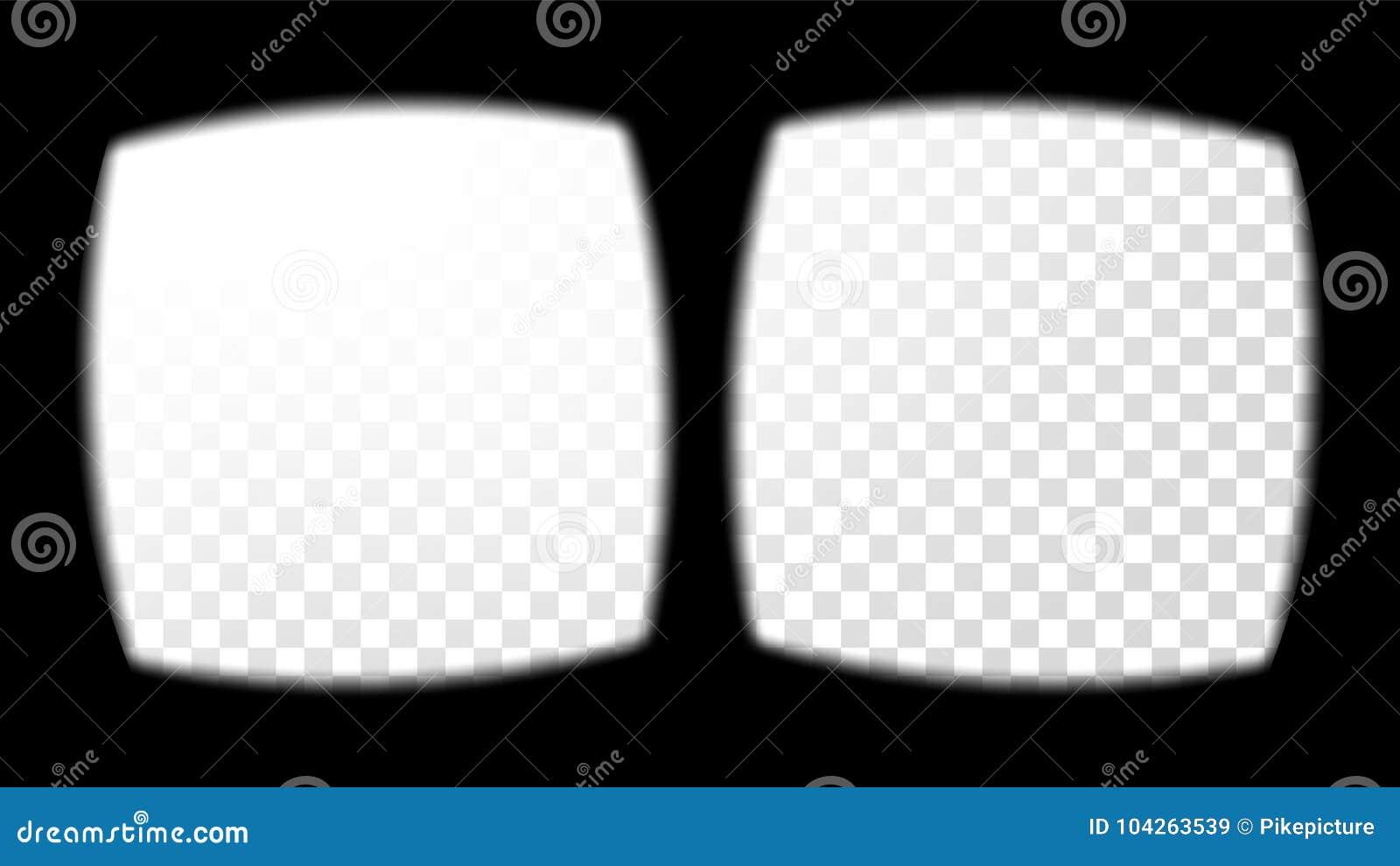 Glas-Anblick-Ansicht-Vektor Der Virtuellen Realität Überlagerung Auf ...
