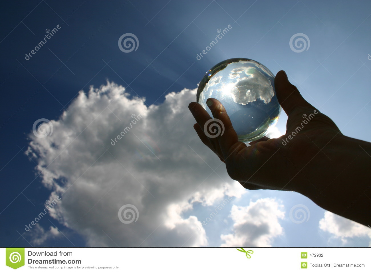 Download Glas ball against the sky stock photo. Image of mood, predict - 472932