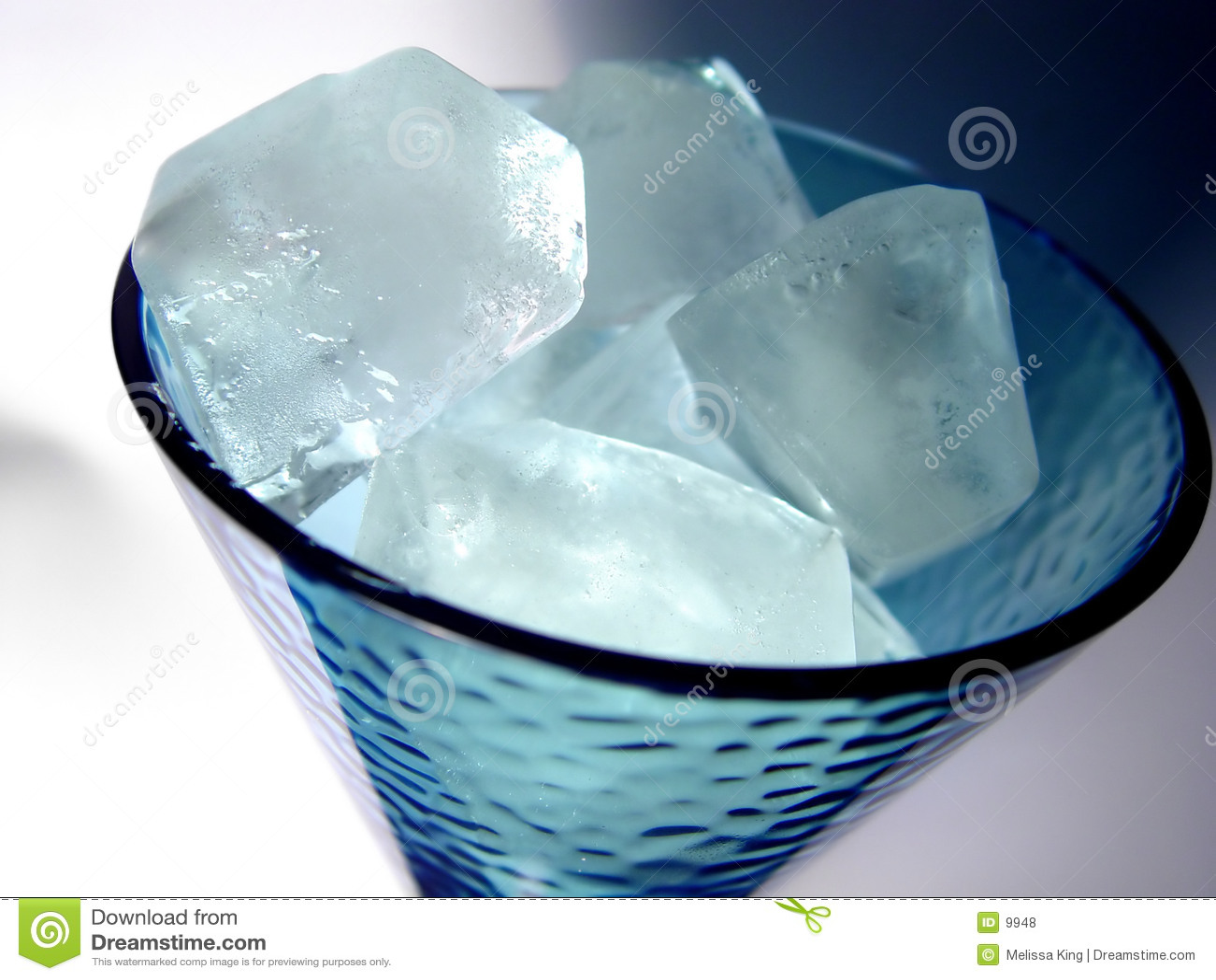 Glas Eis-Würfel