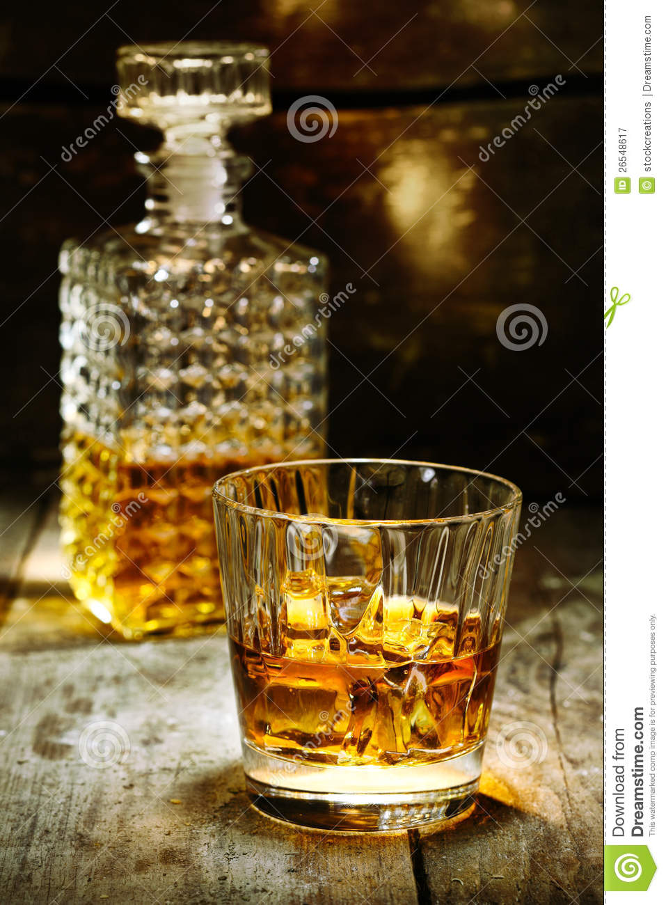 Glass Alcohol Container L