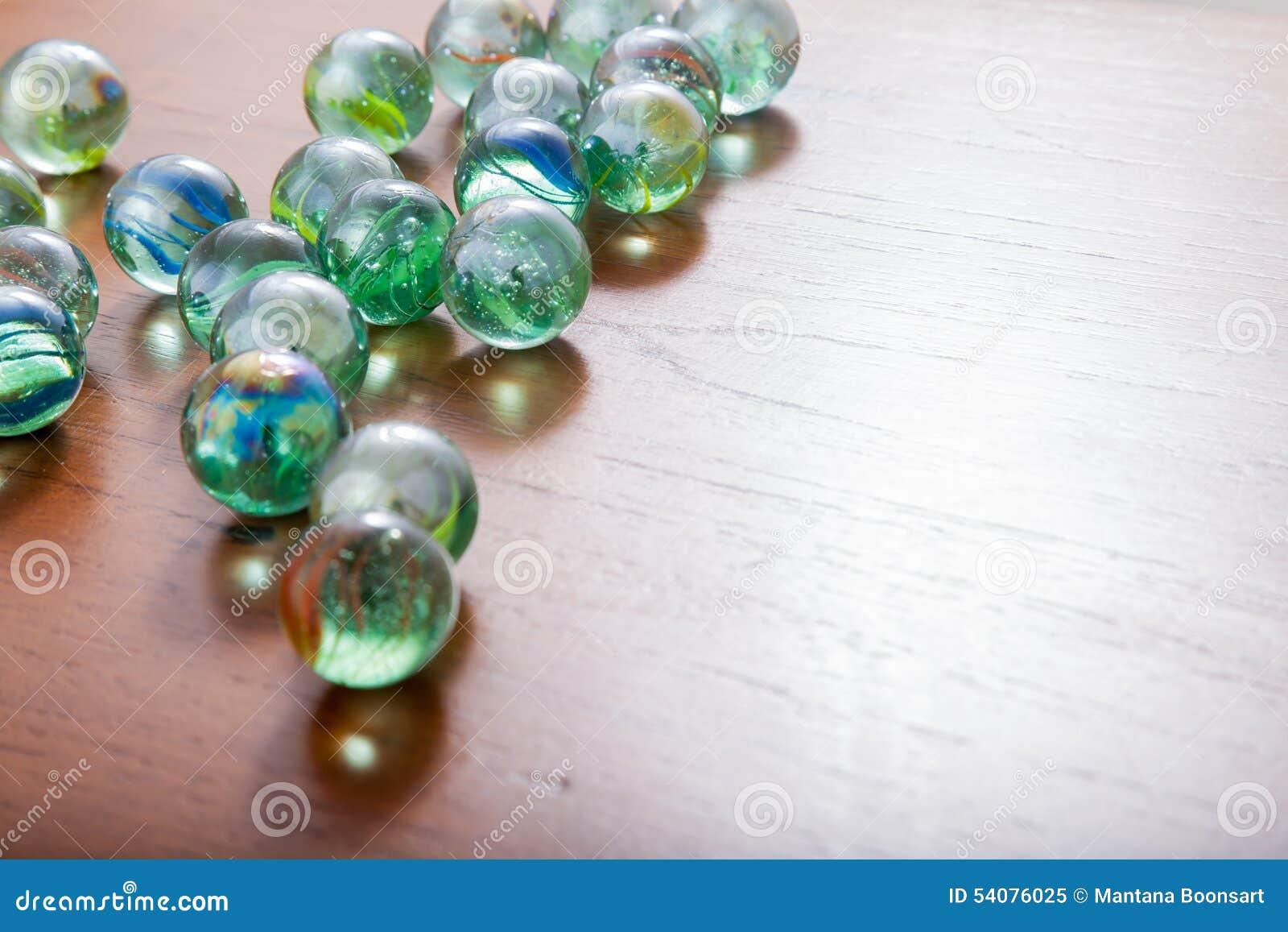 Glas marmeren ballen