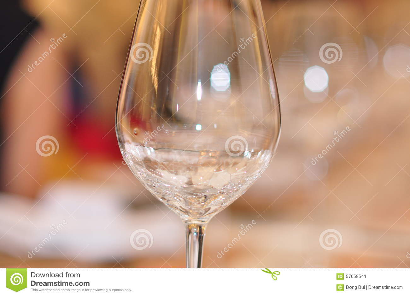 Glas met bokeh