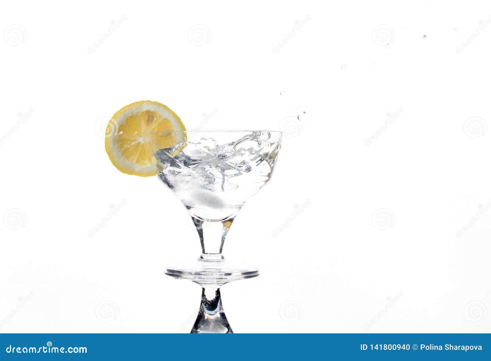 Glas met een verfrissende drank