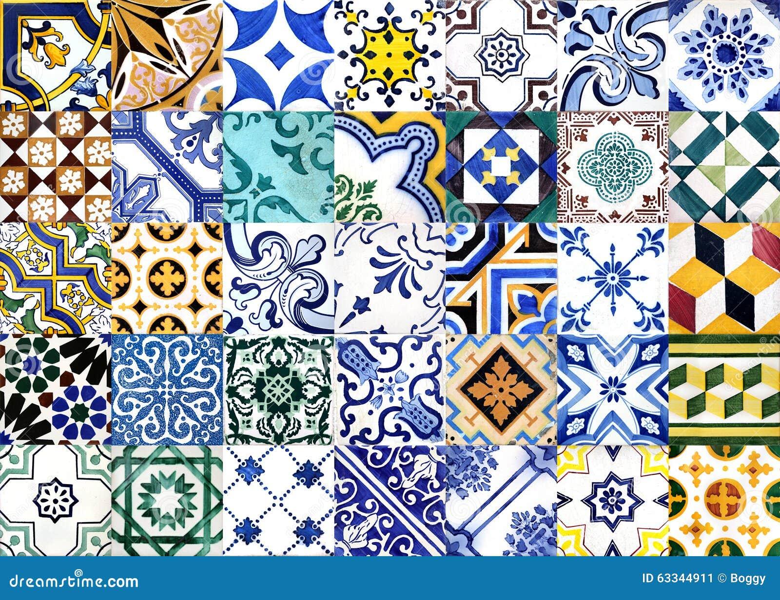 Glasade portugisiska tegelplattor
