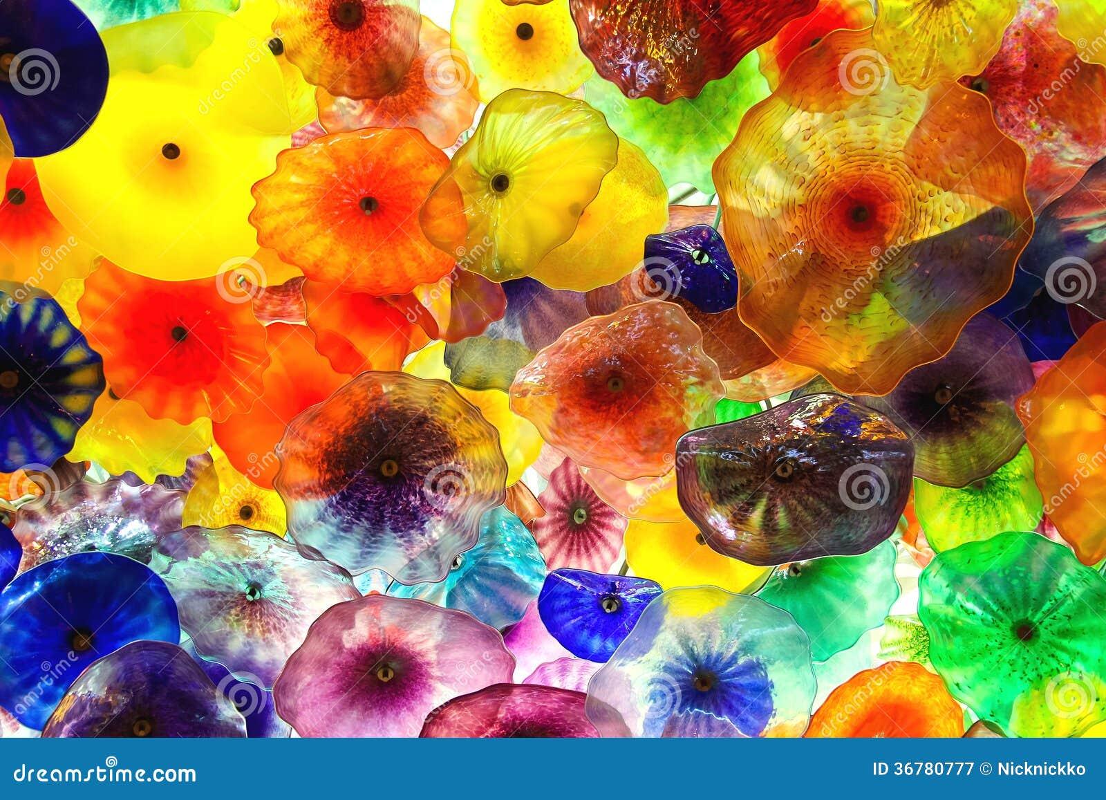 Glasbloemen op het plafond in bellagio hotel in las vegas - Hotel las gaunas en logrono ...