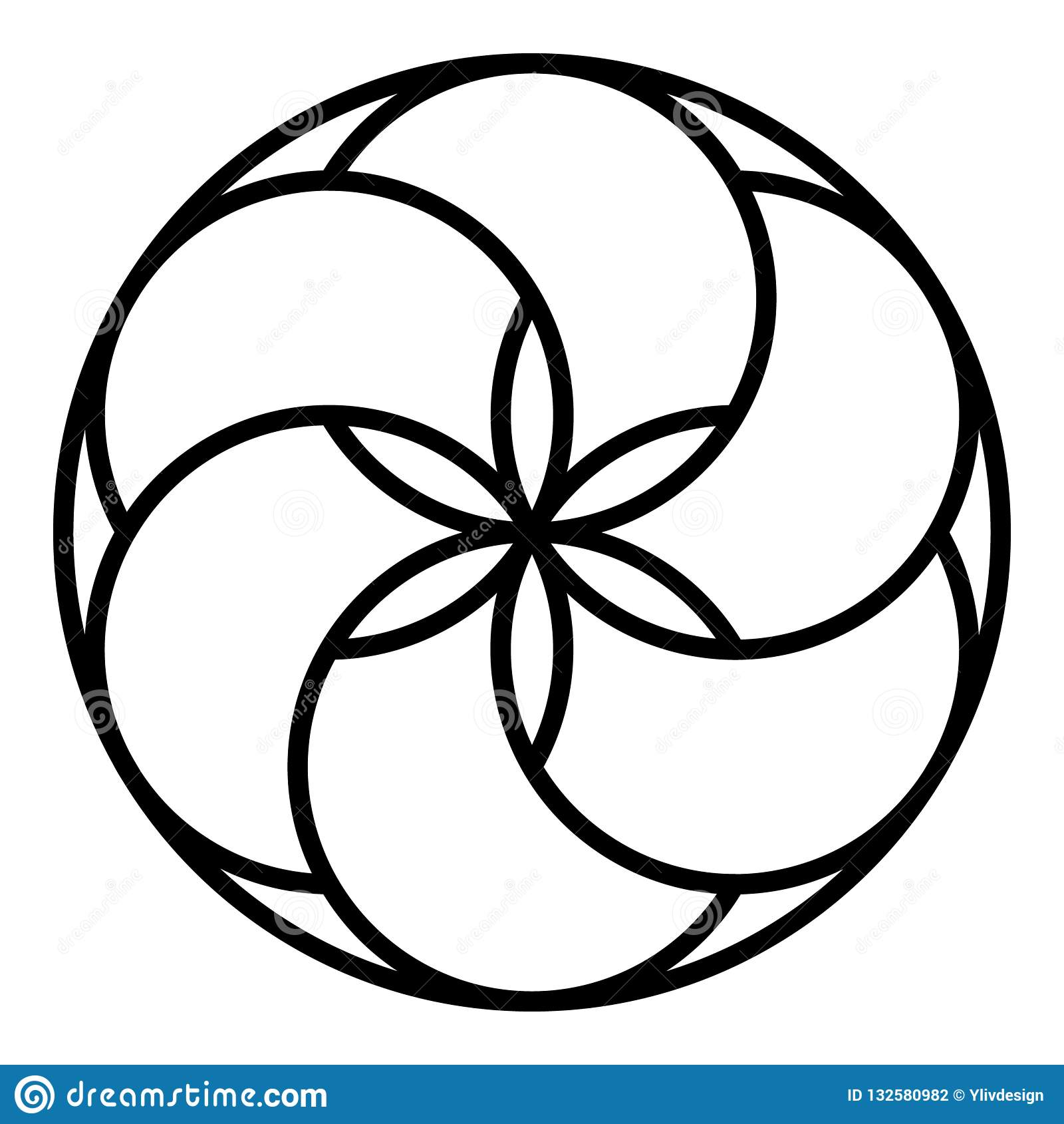 Glasera den ljusbruna symbolen, översiktsstil