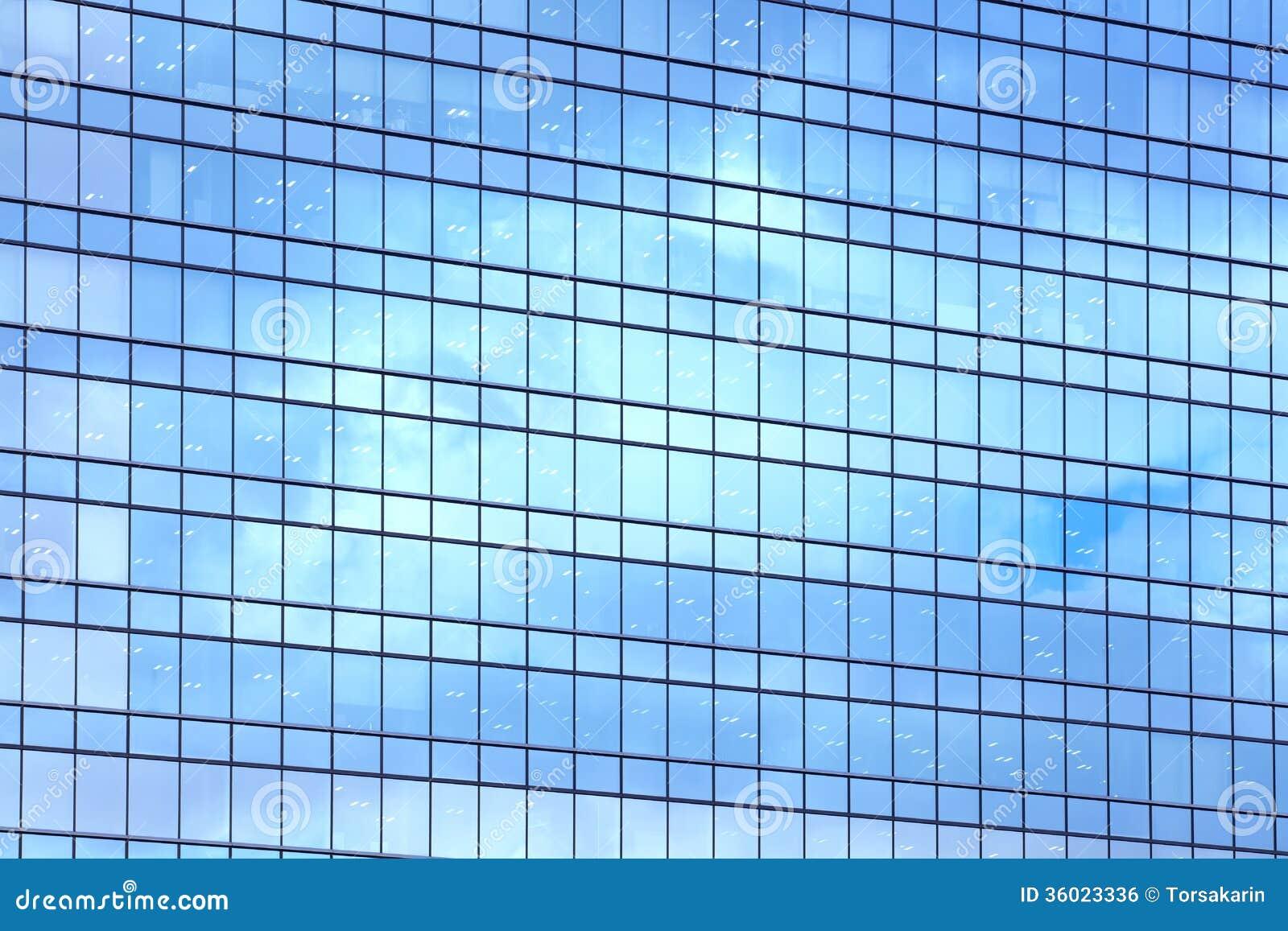 Glasfassade textur  Glasfassade Lizenzfreies Stockbild - Bild: 36023336