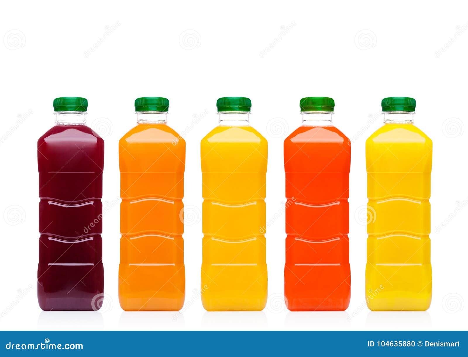 Download Glasflessen Met Vers Organisch Sap Op Wit Stock Foto - Afbeelding bestaande uit gezond, voorwerp: 104635880