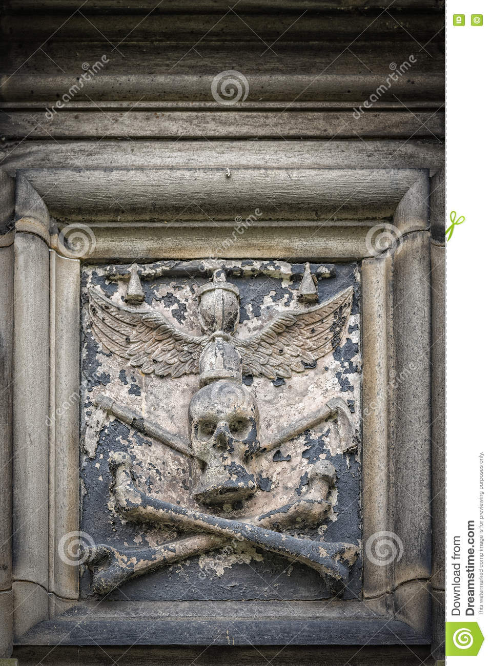 Glasgow Cathedral Stone Skull