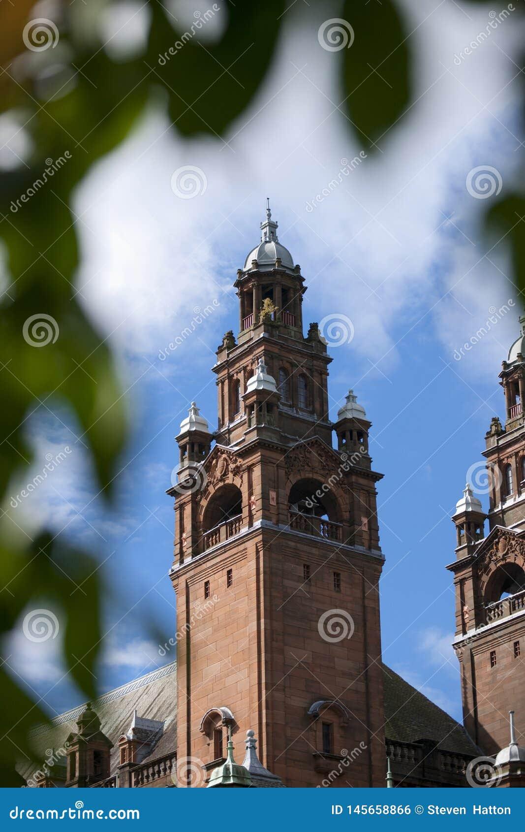 Glasgow, l Ecosse, le 8 septembre 2013, le Kelvingrove Art Gallery et mus?e pr?s de parc de Kelvingrove, Argyle Street