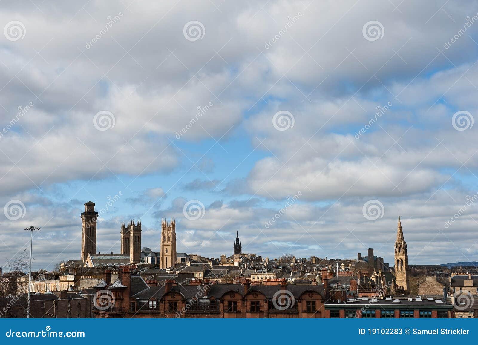 Glasgow Scotland Skyline Stock Image Image Of Bridge