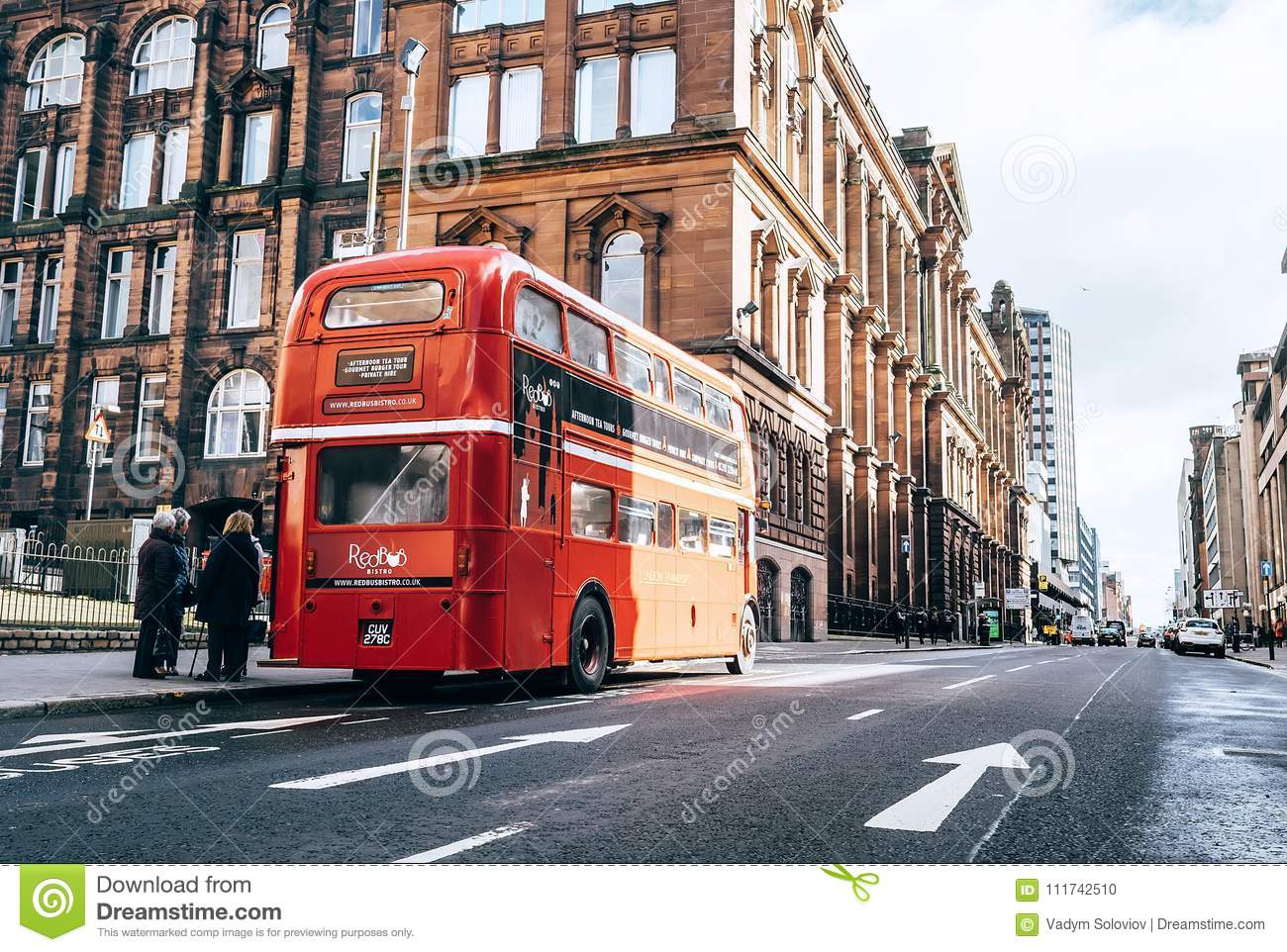 Glasgow, Scotland, UK – March 9, 2018: : Famous London Red