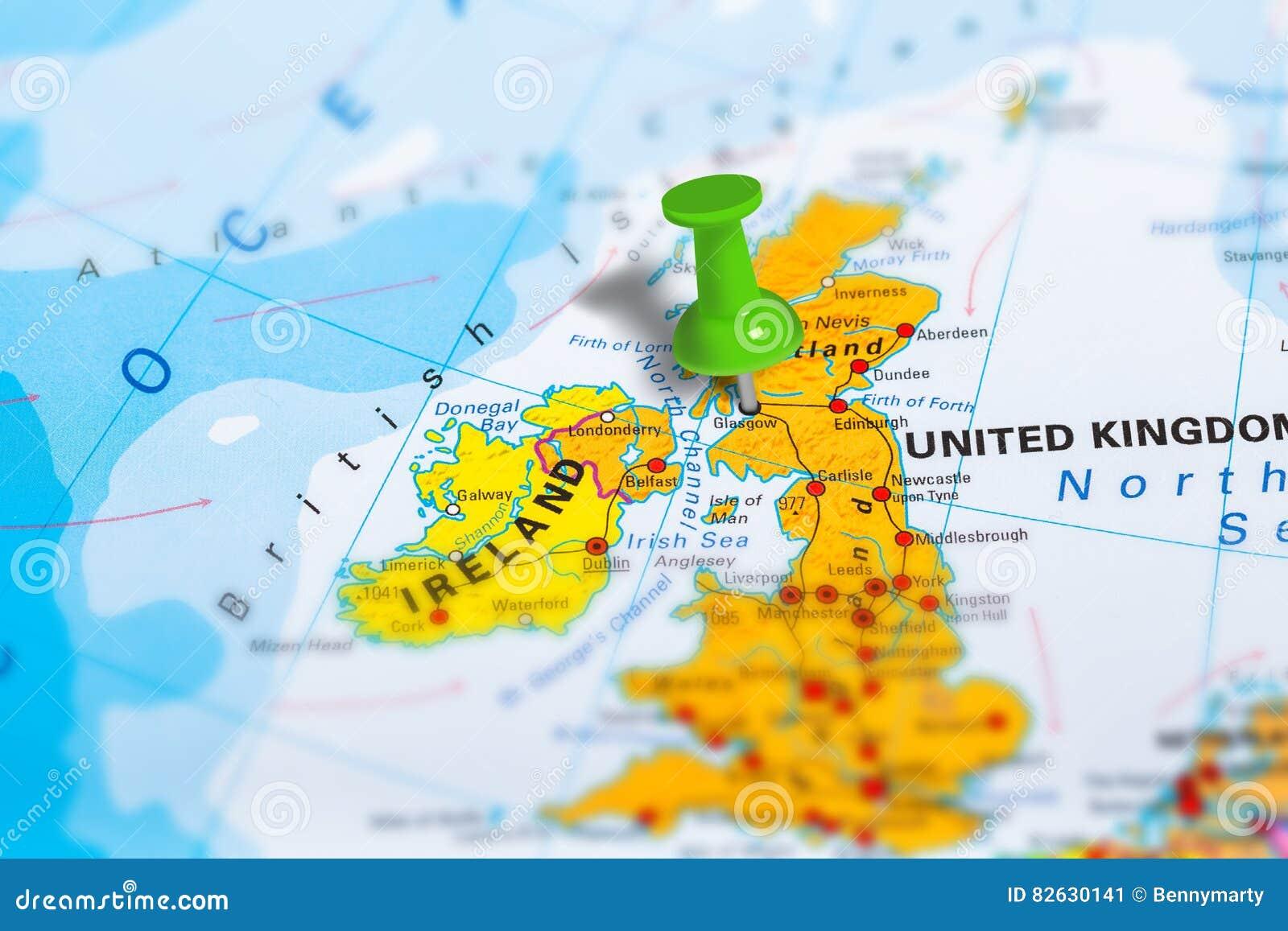 Glasgow Szkocja Mapa Obraz Stock Obraz Zlozonej Z Macro 82630141